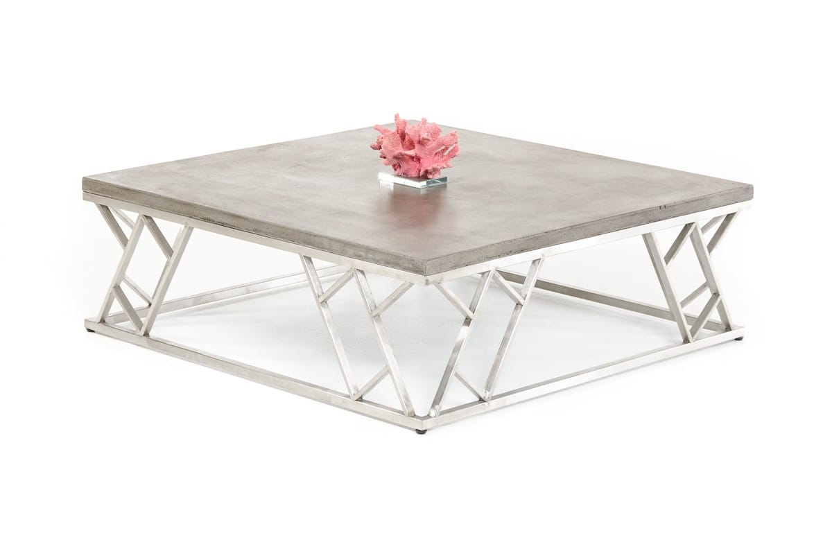 Modrest Scape Modern Concrete Coffee Table By Vig Furniture