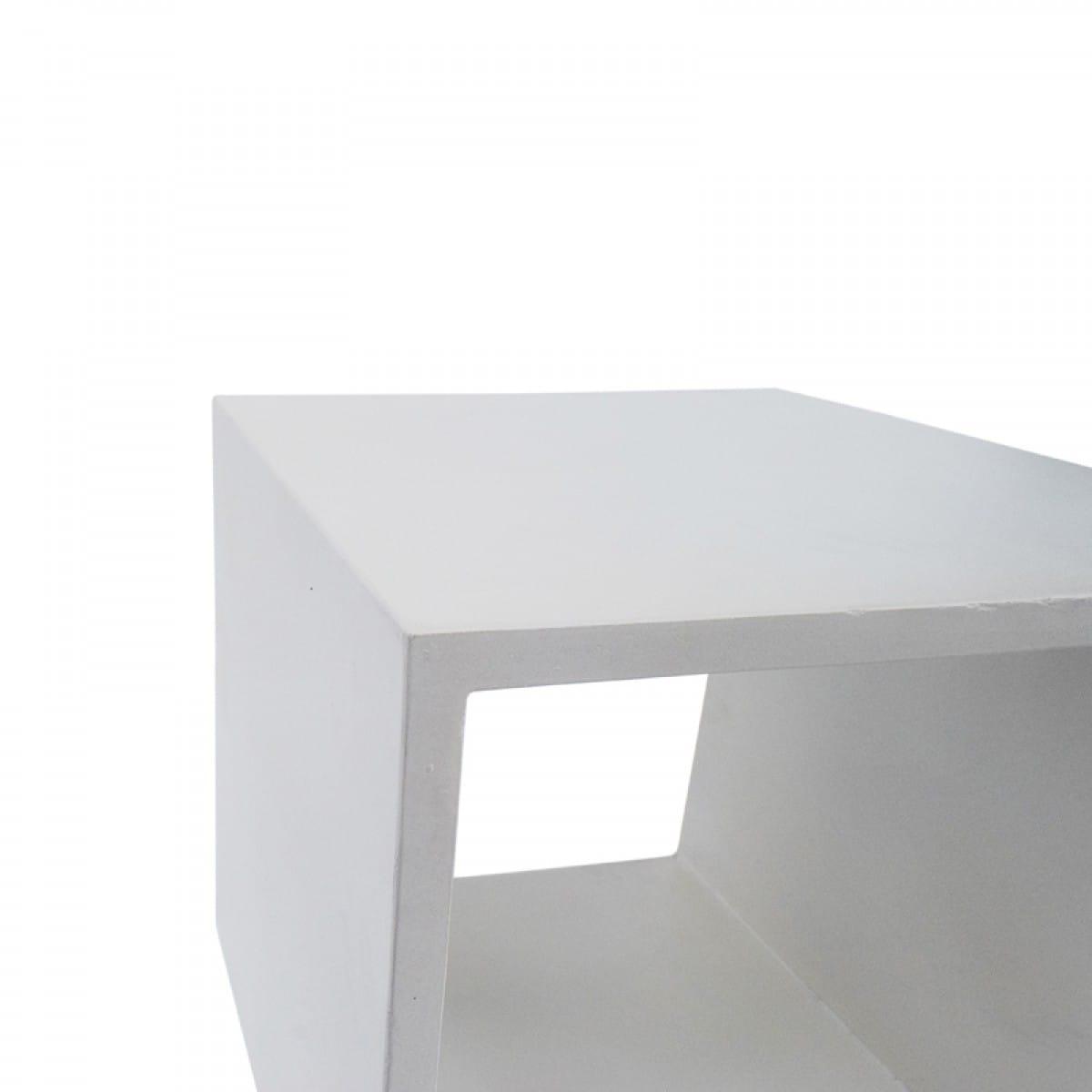 Modrest Diaz Modern White Concrete End Table By Vig Furniture