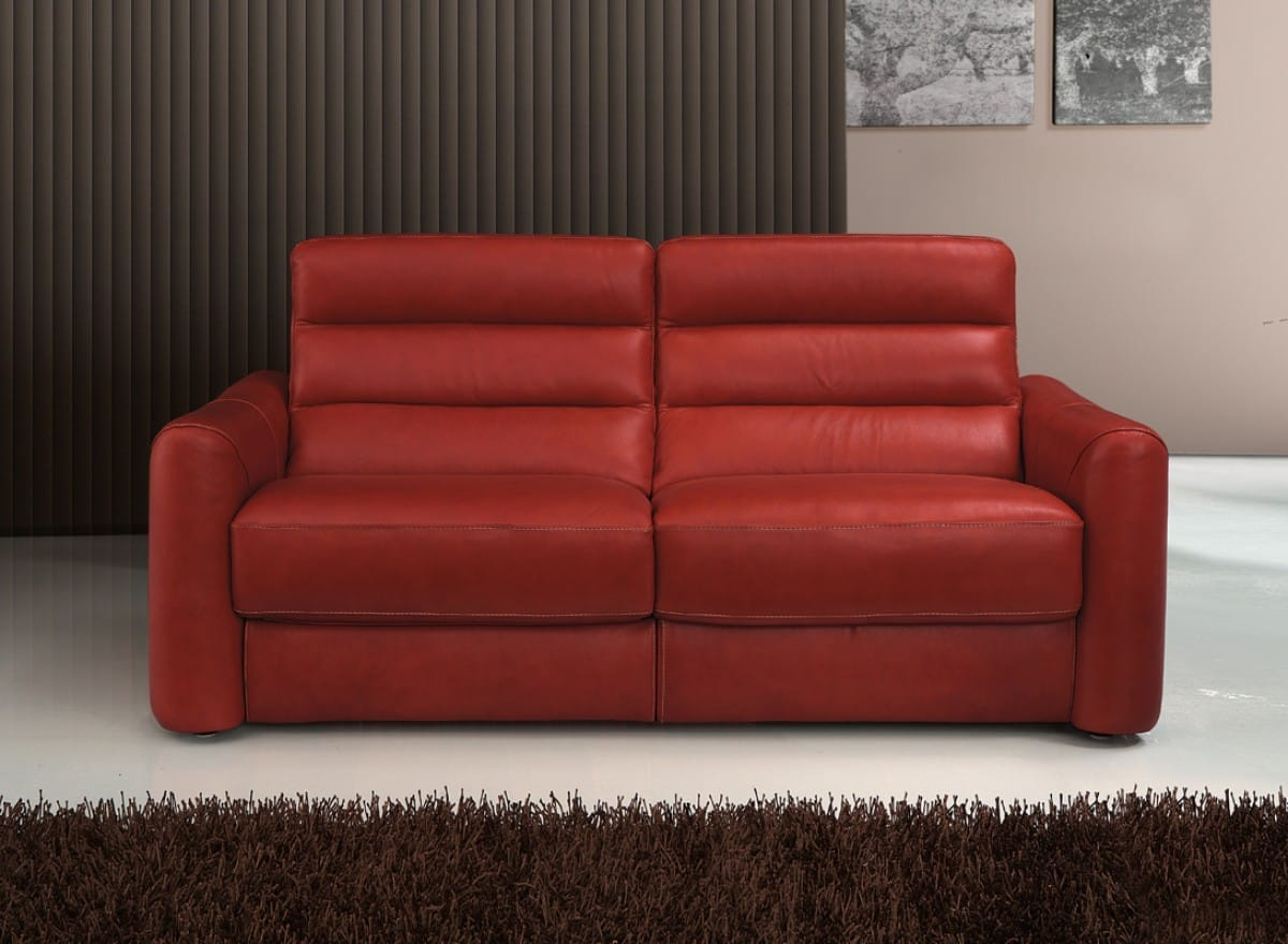 Estro Salotti Levante Modern Red Leather Sofa Set by VIG Furniture