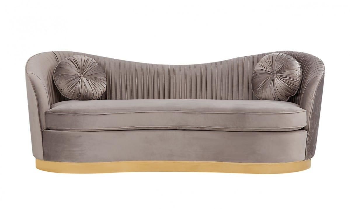 Divani Casa Rockford Modern Grey Velvet Sofa by VIG Furniture