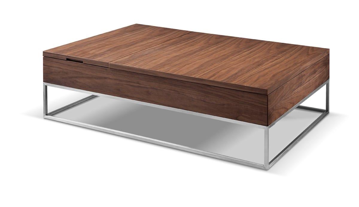 Modrest Telson Modern Walnut Coffee Table W Storage By Vig Furniture