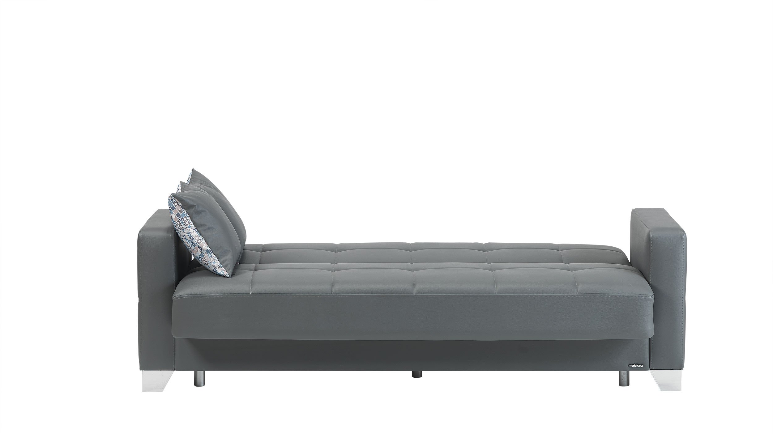 Viva Italia Prestige Dark Gray Leatherette Sofa Bed by Mobista