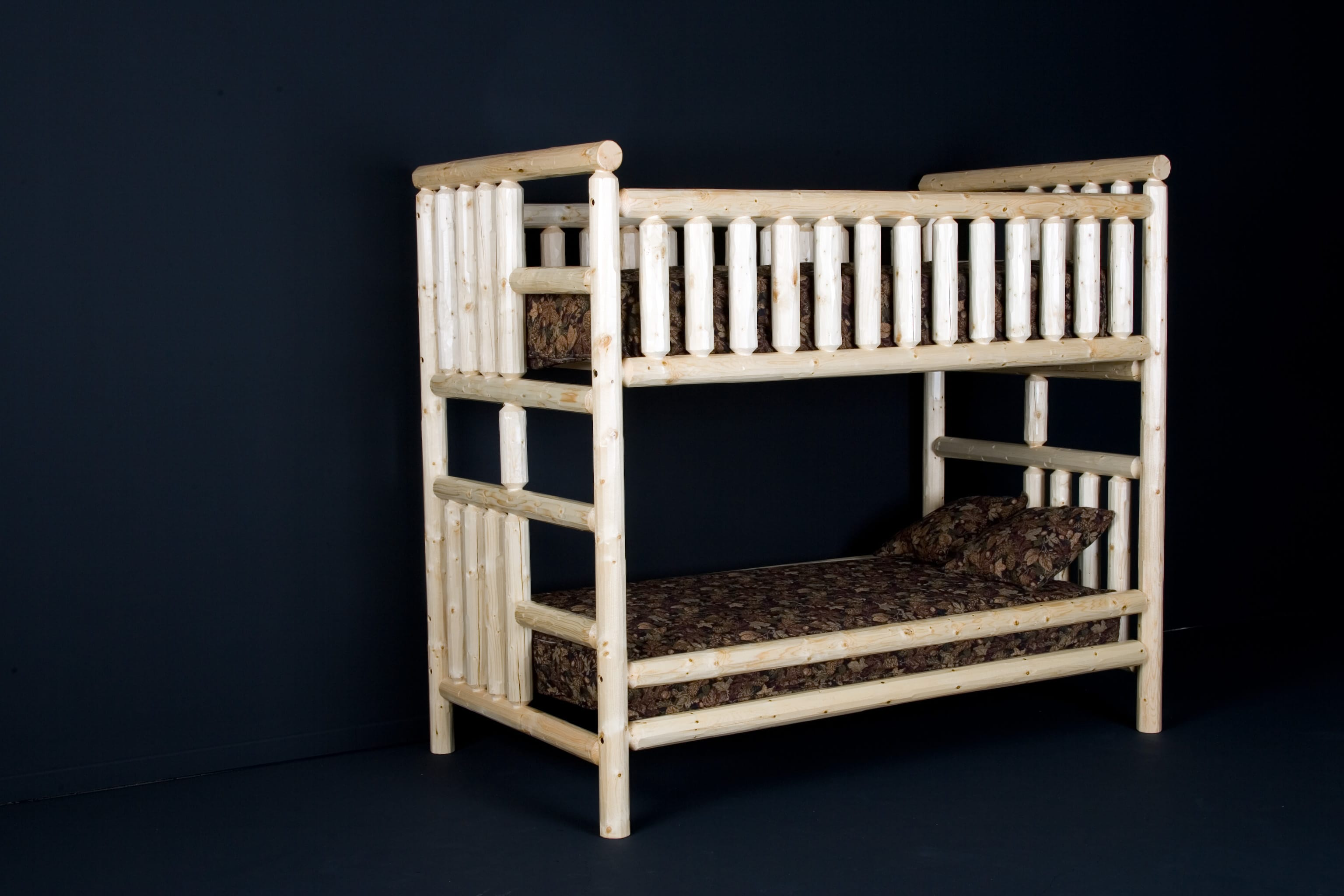 Picture of: Log Bunk Bed By Viking Log Furniture