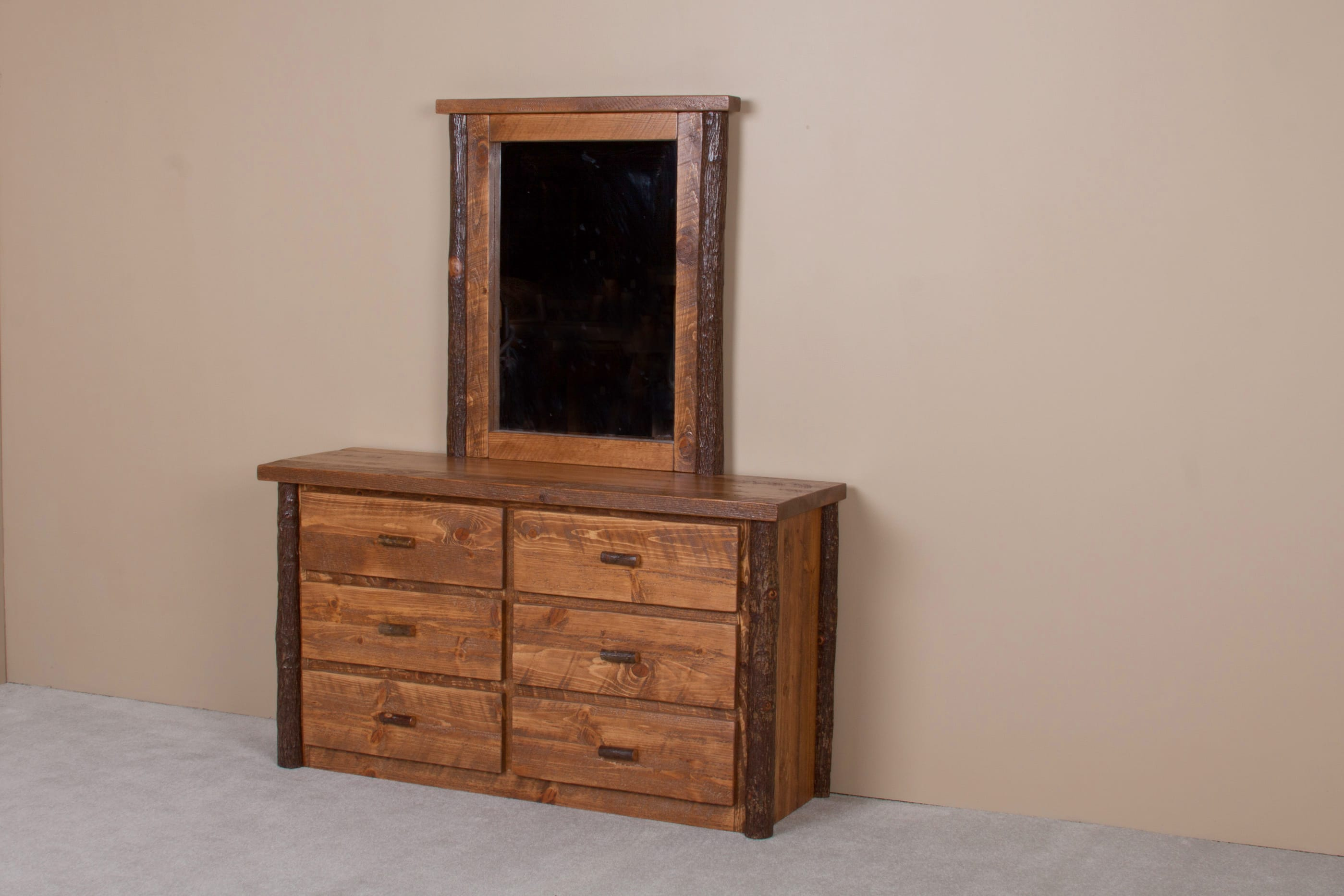 Sawtooth Hickory Honey Pine Dresser