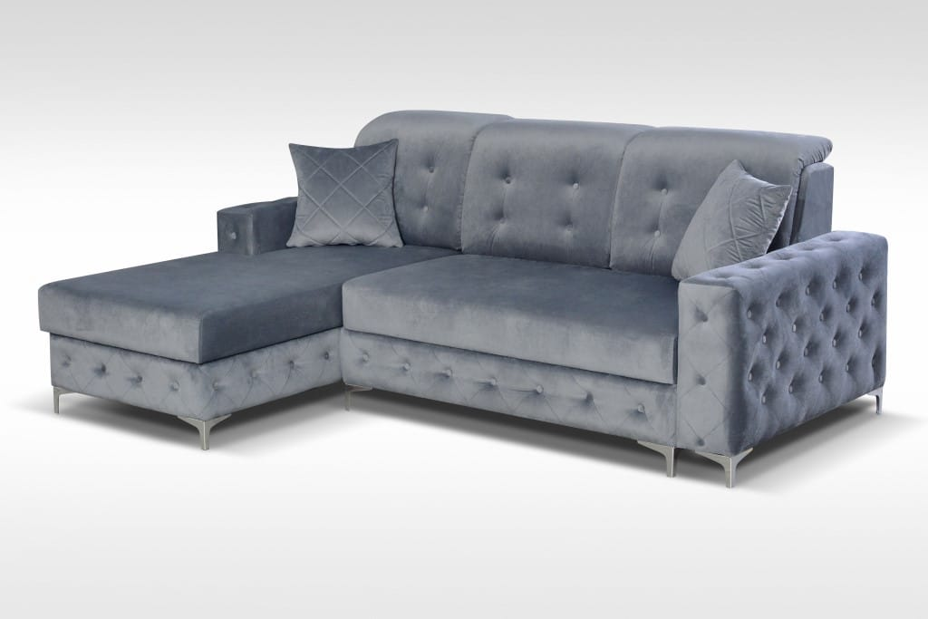 Astounding Verso Mini Gray Sectional Sofa By Skyler Designs Gmtry Best Dining Table And Chair Ideas Images Gmtryco