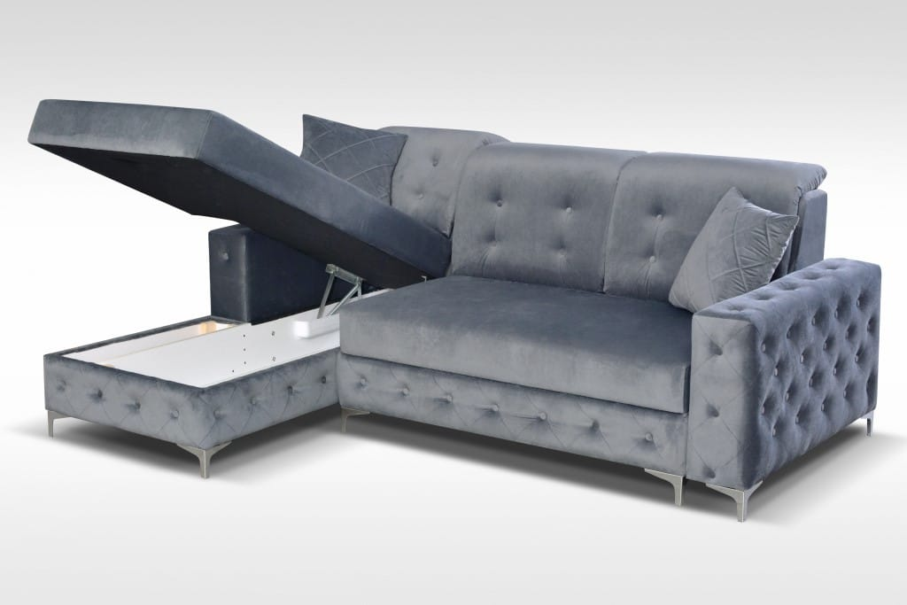 Verso Mini Gray Sectional Sofa by Skyler Designs