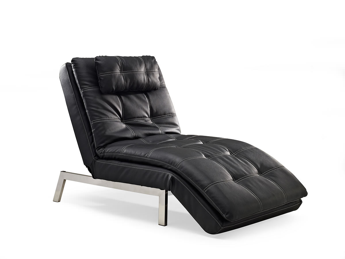 Valencia Chaise Black By Serta Lifestyle