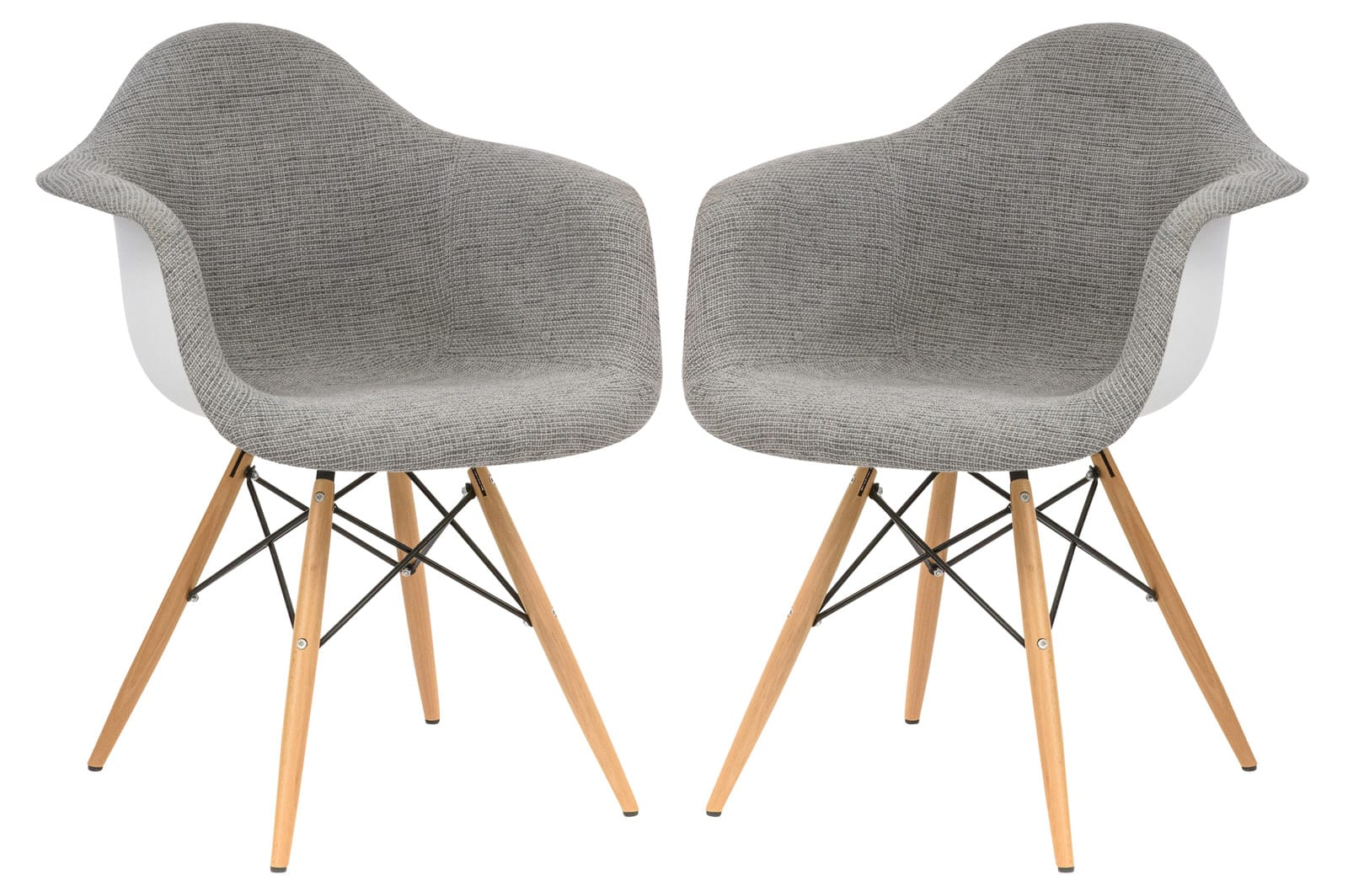 Awesome Willow Fabric Eiffel Gray Accent Chair Set Of 2 By Leisuremod Pdpeps Interior Chair Design Pdpepsorg