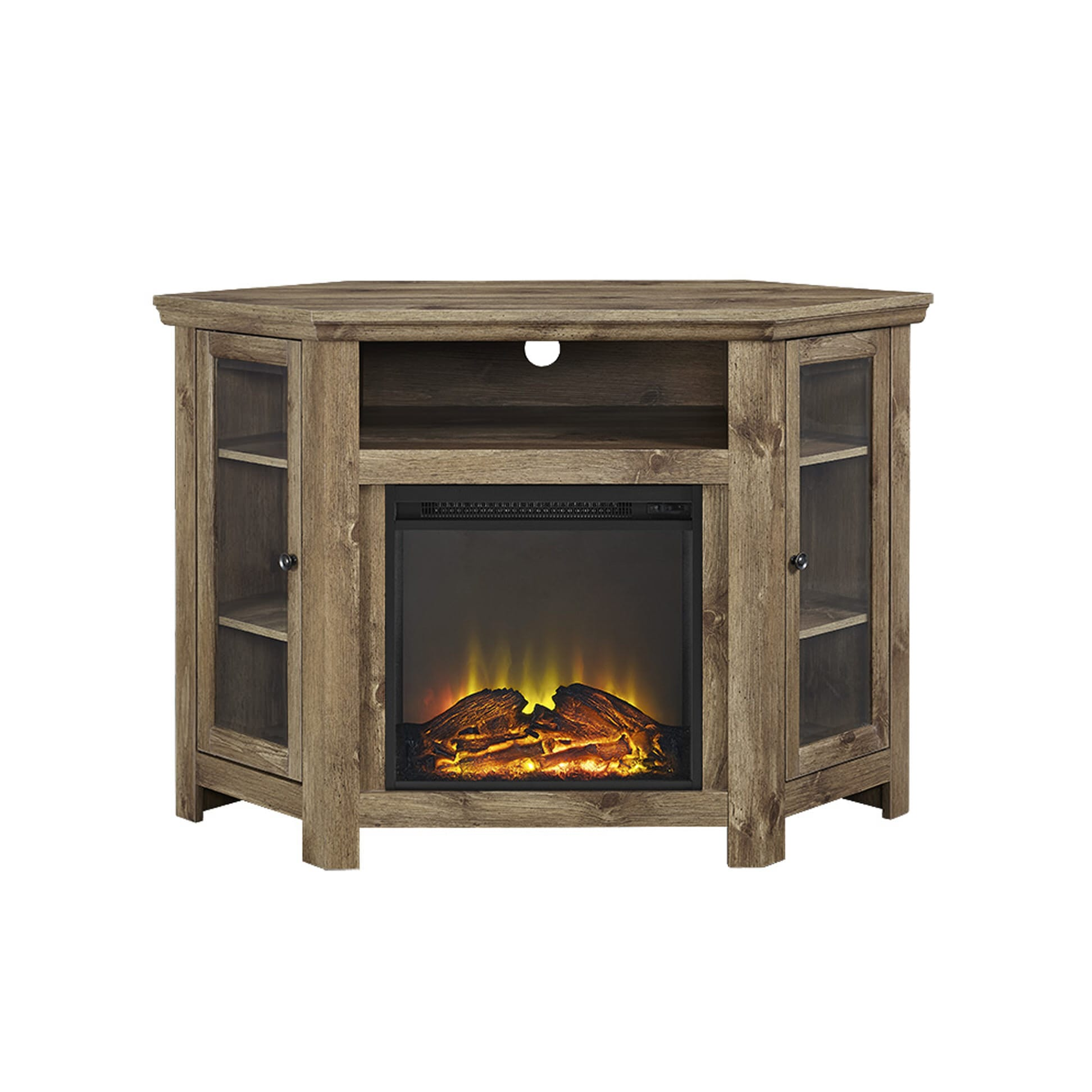 Jackson 48 Inch Corner Fireplace TV Stand - Barnwood by ...