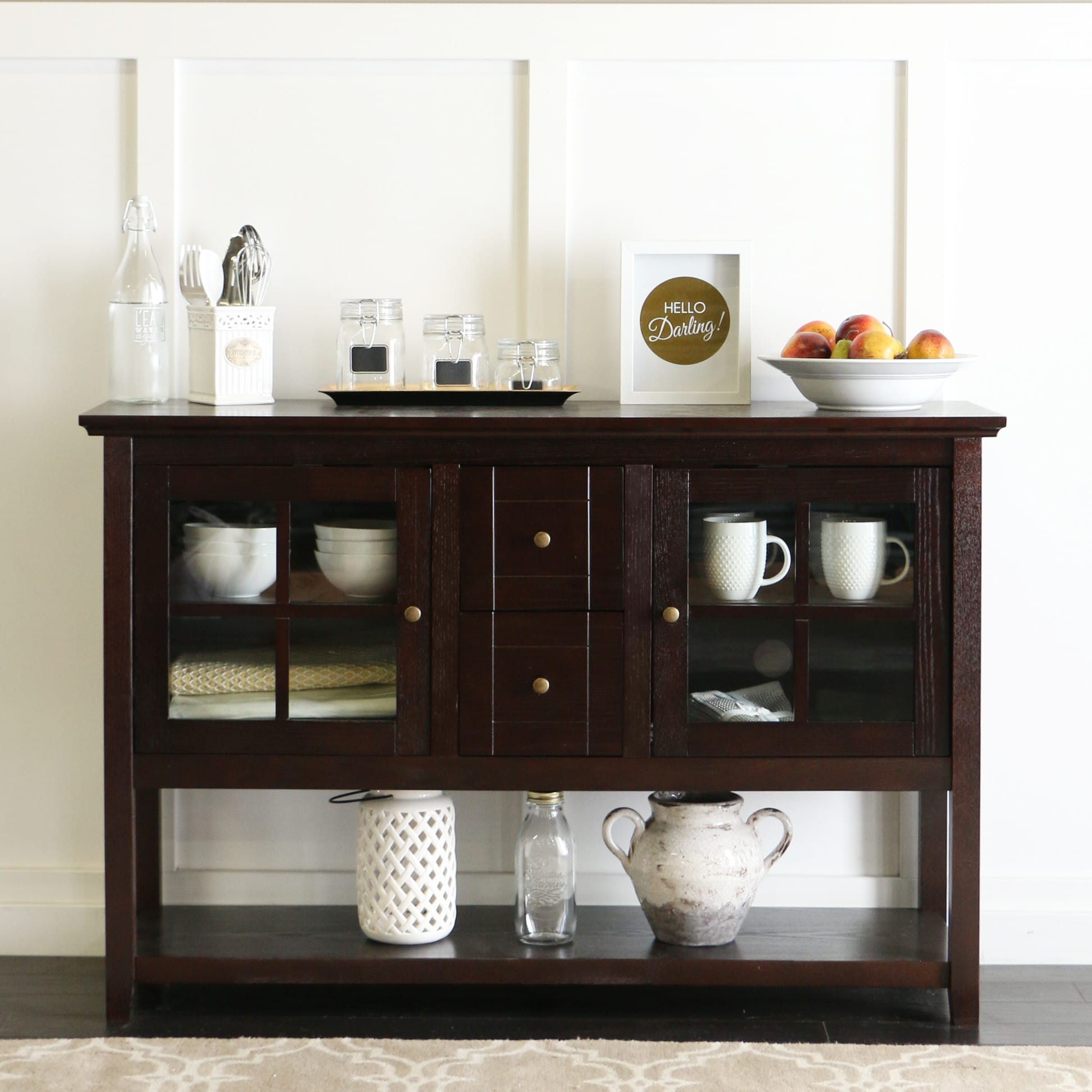 Buffet 52 inch tv console table espresso by walker edison geotapseo Images