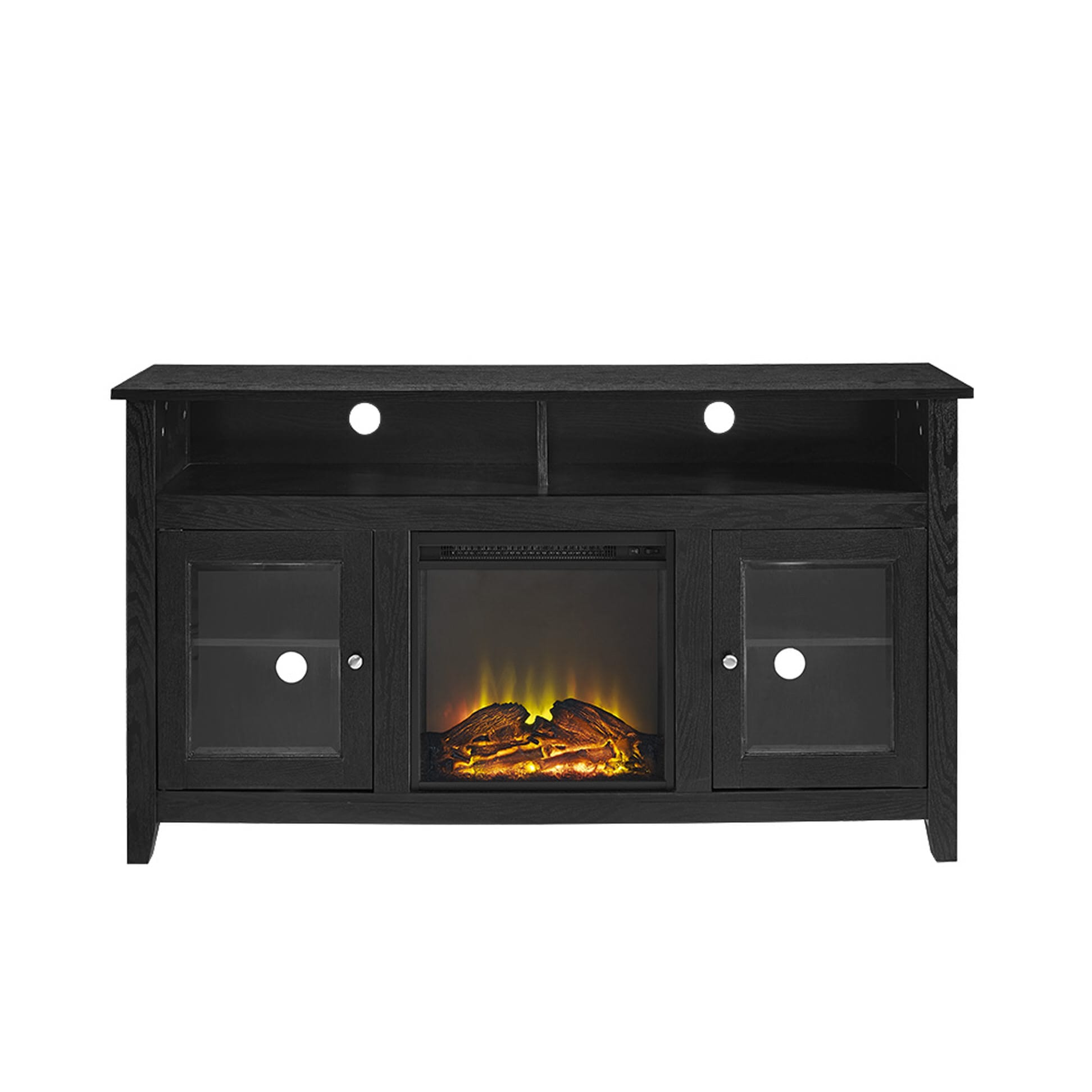 wasatch 58 inch highboy fireplace tv stand black by