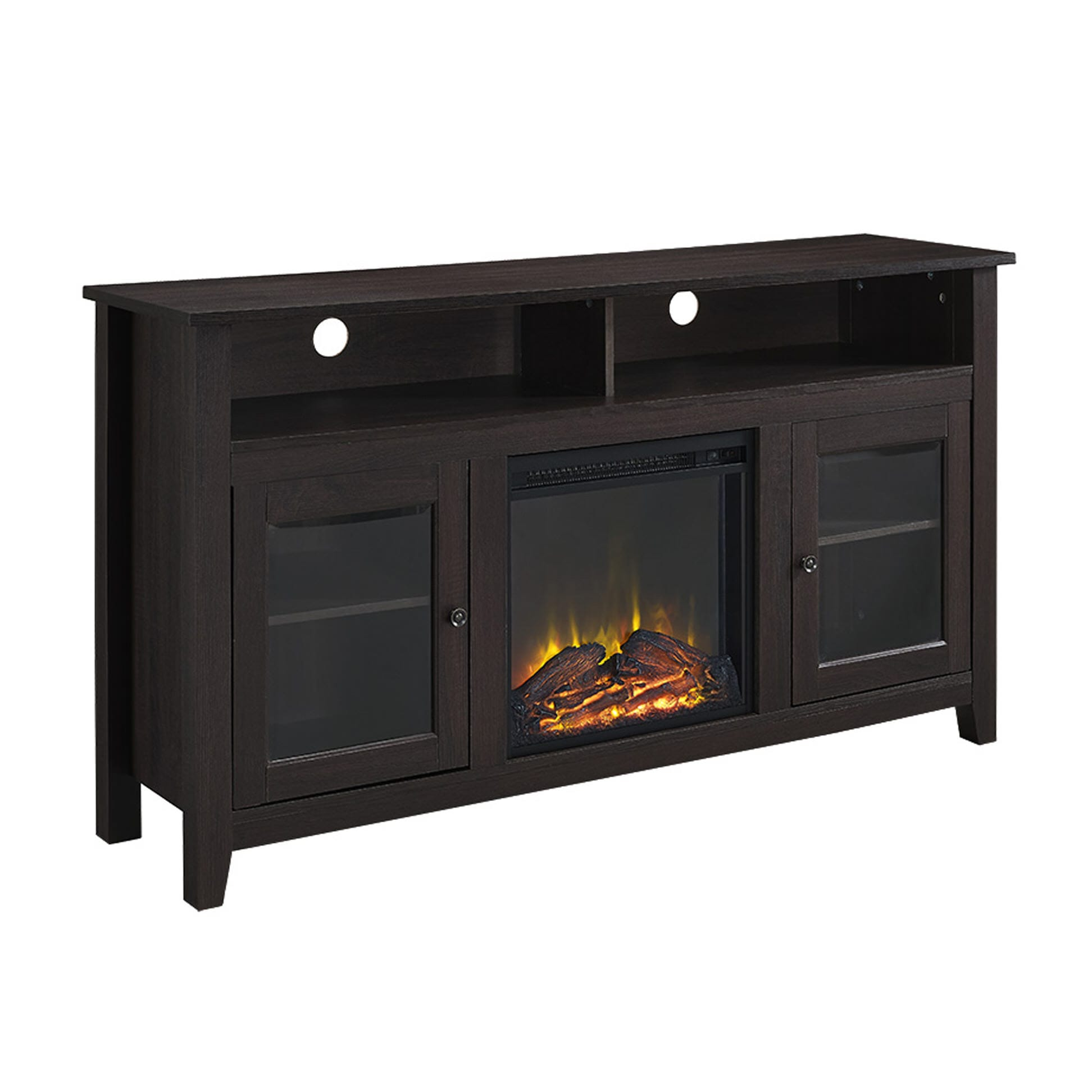 Wasatch 58 Inch Highboy Fireplace Tv Stand Espresso By Walker Edison