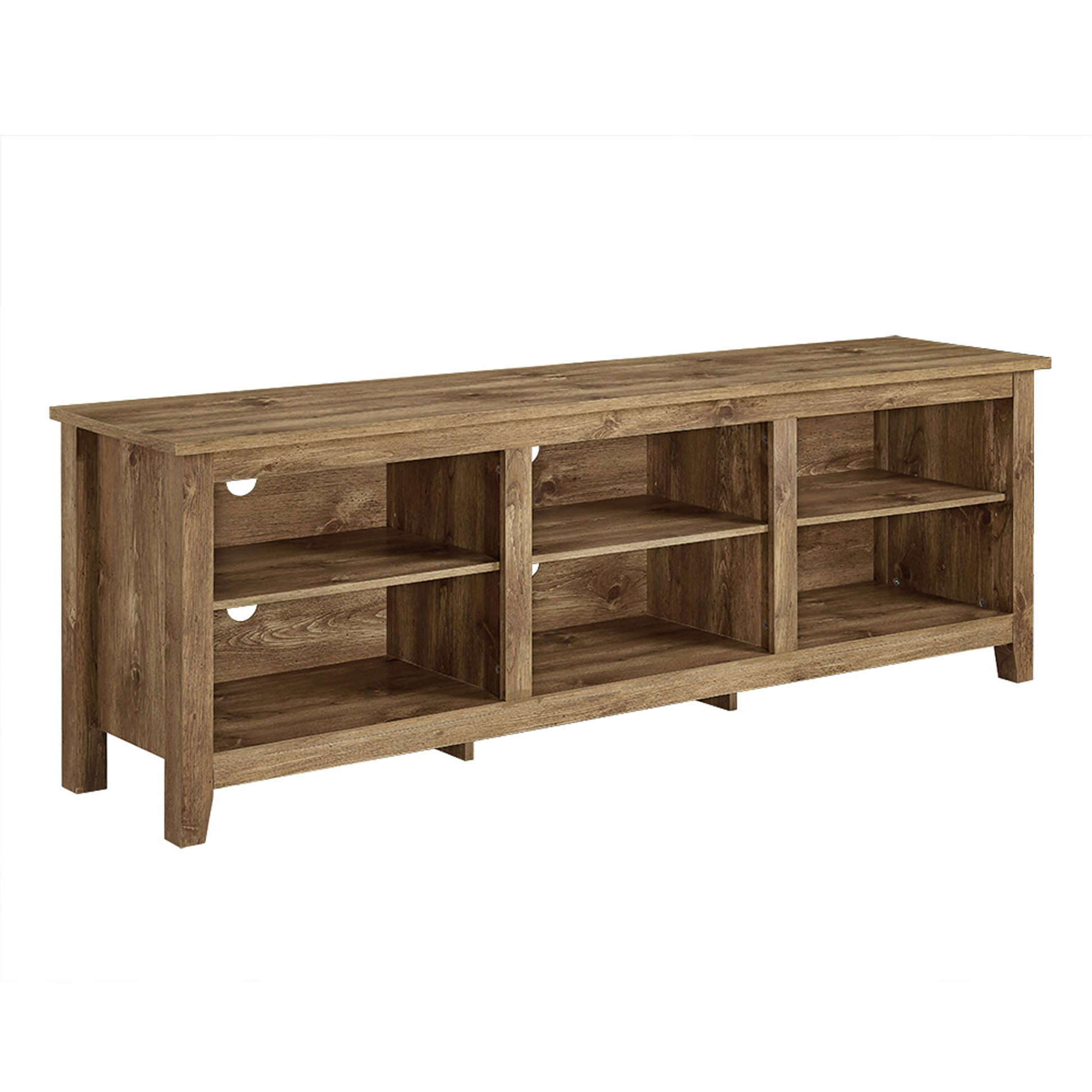 70 Inch TV Stand Barnwood by Walker Edison