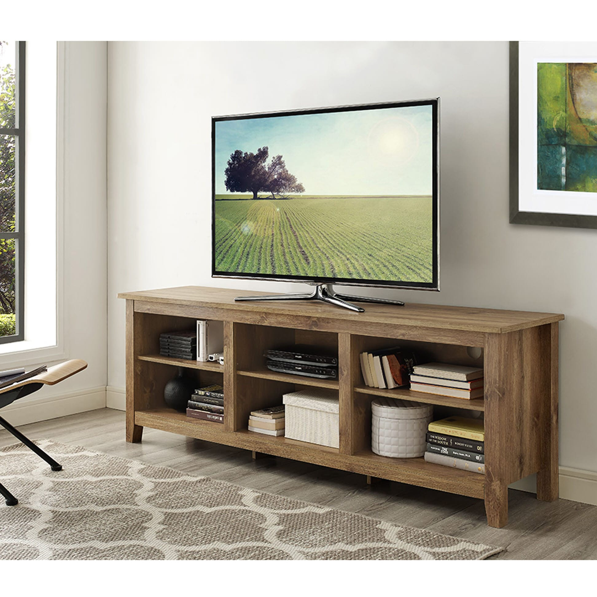 Magnificent 70 Inch Tv Stand Barnwood By Walker Edison Caraccident5 Cool Chair Designs And Ideas Caraccident5Info