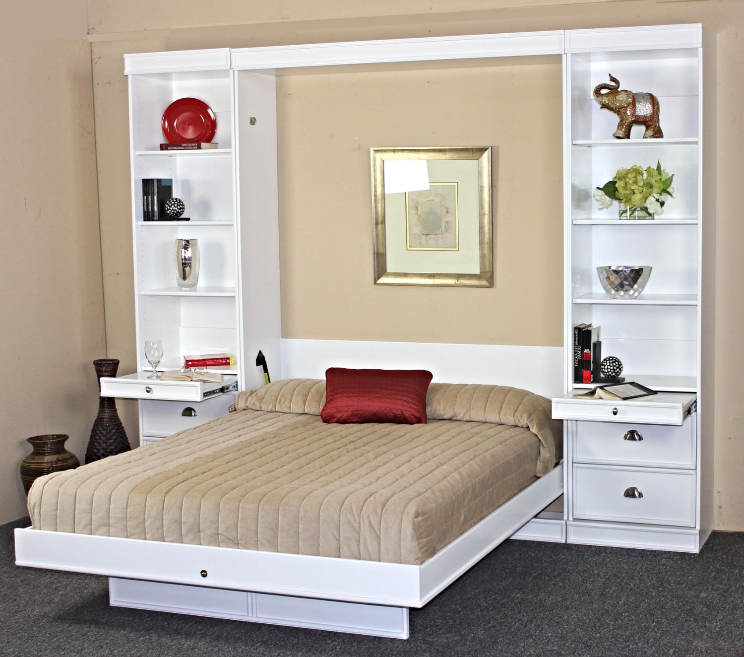 Bedroom Furniture Bristol Bristol Birch Vertical Wall Bed W Table By Wallbeds