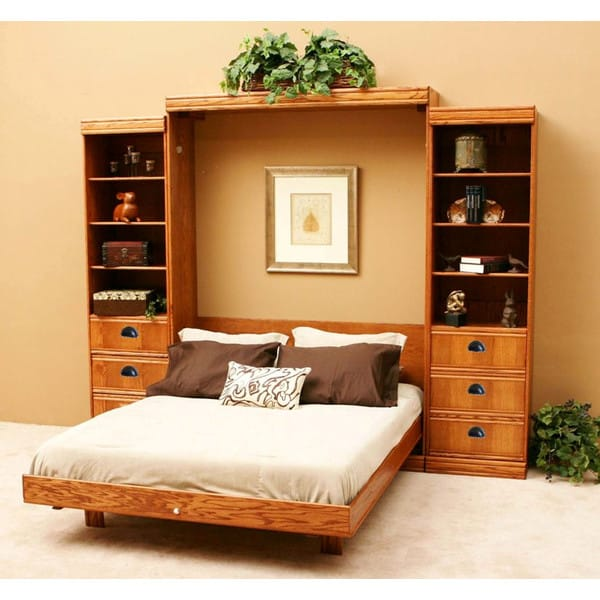 contemporary oak vertical wall bed by wallbeds. Black Bedroom Furniture Sets. Home Design Ideas
