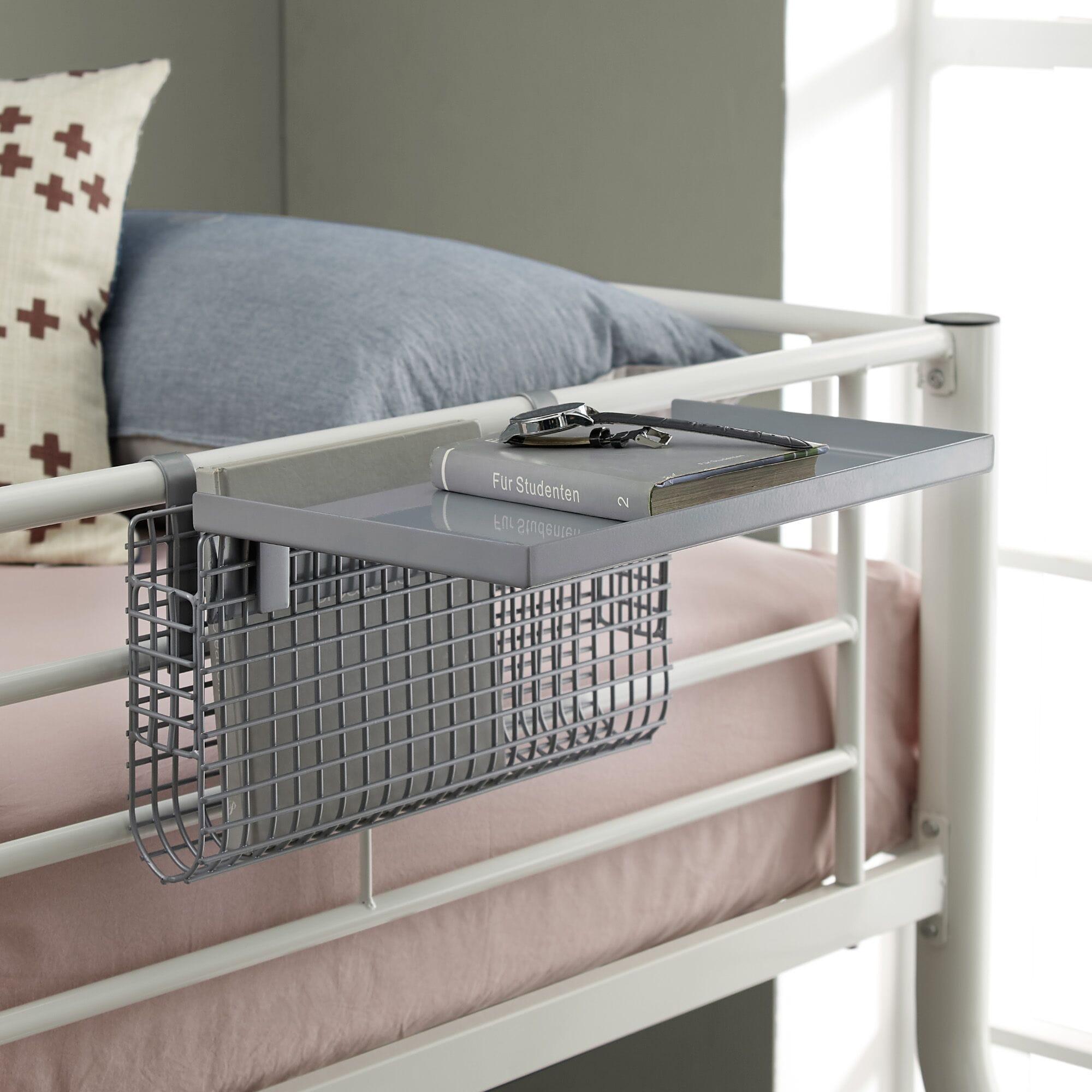 Universal Metal Bunk Bed Shelf Silver Mesh By Walker Edison