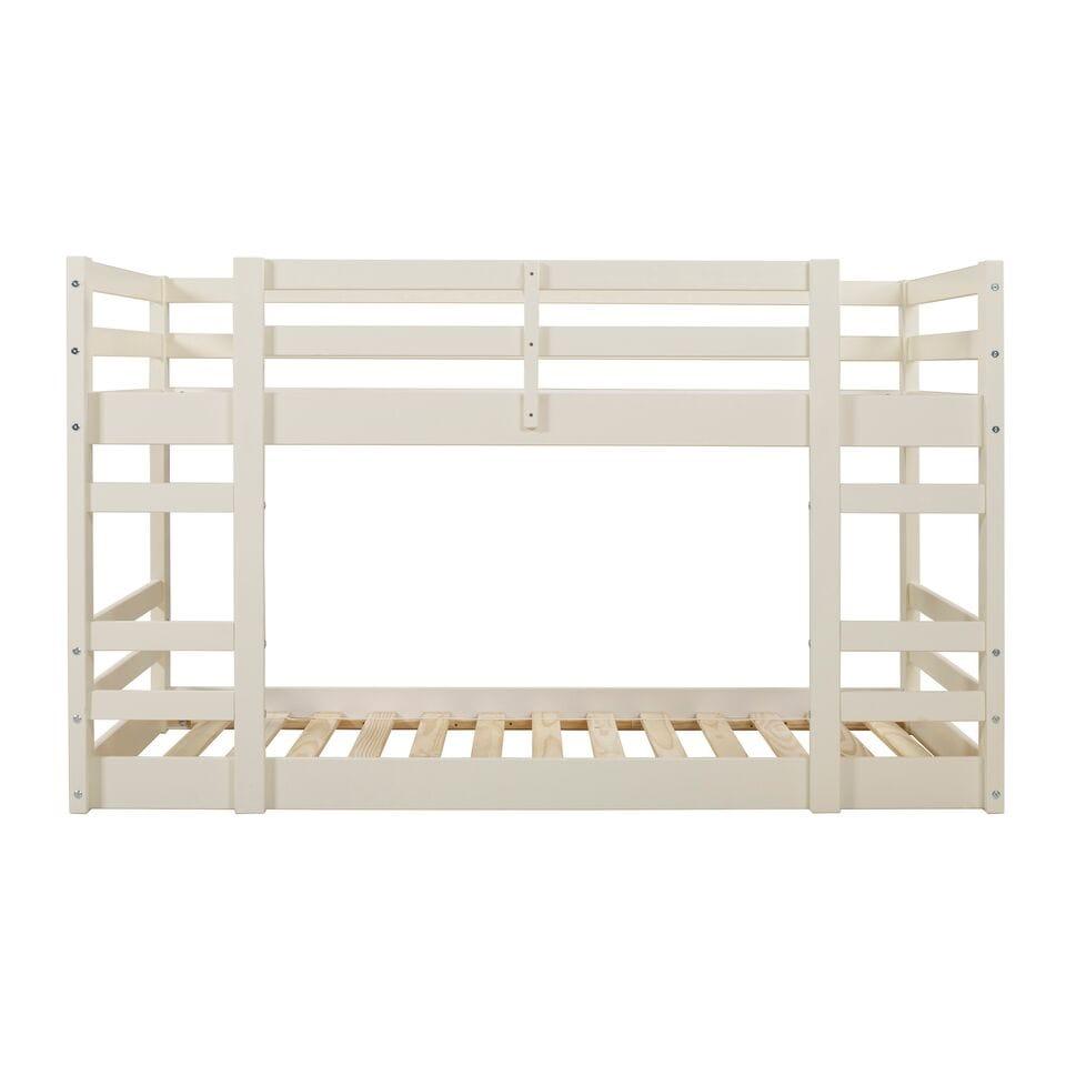 Low Wood Twin Bunk Bed White By Walker Edison