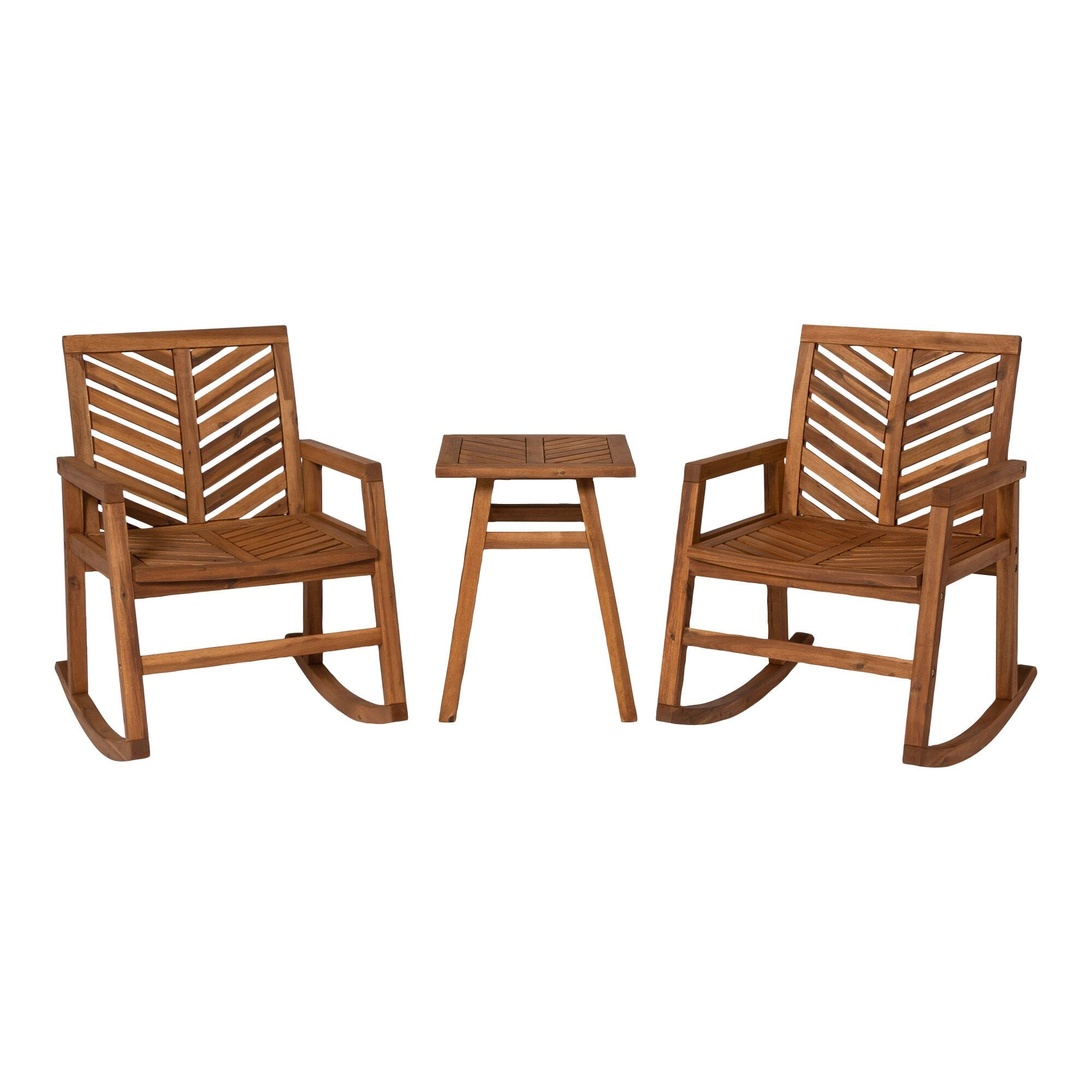 3 Piece Outdoor Rocking Chair Set, Outdoor Rocking Chairs Set Of 2