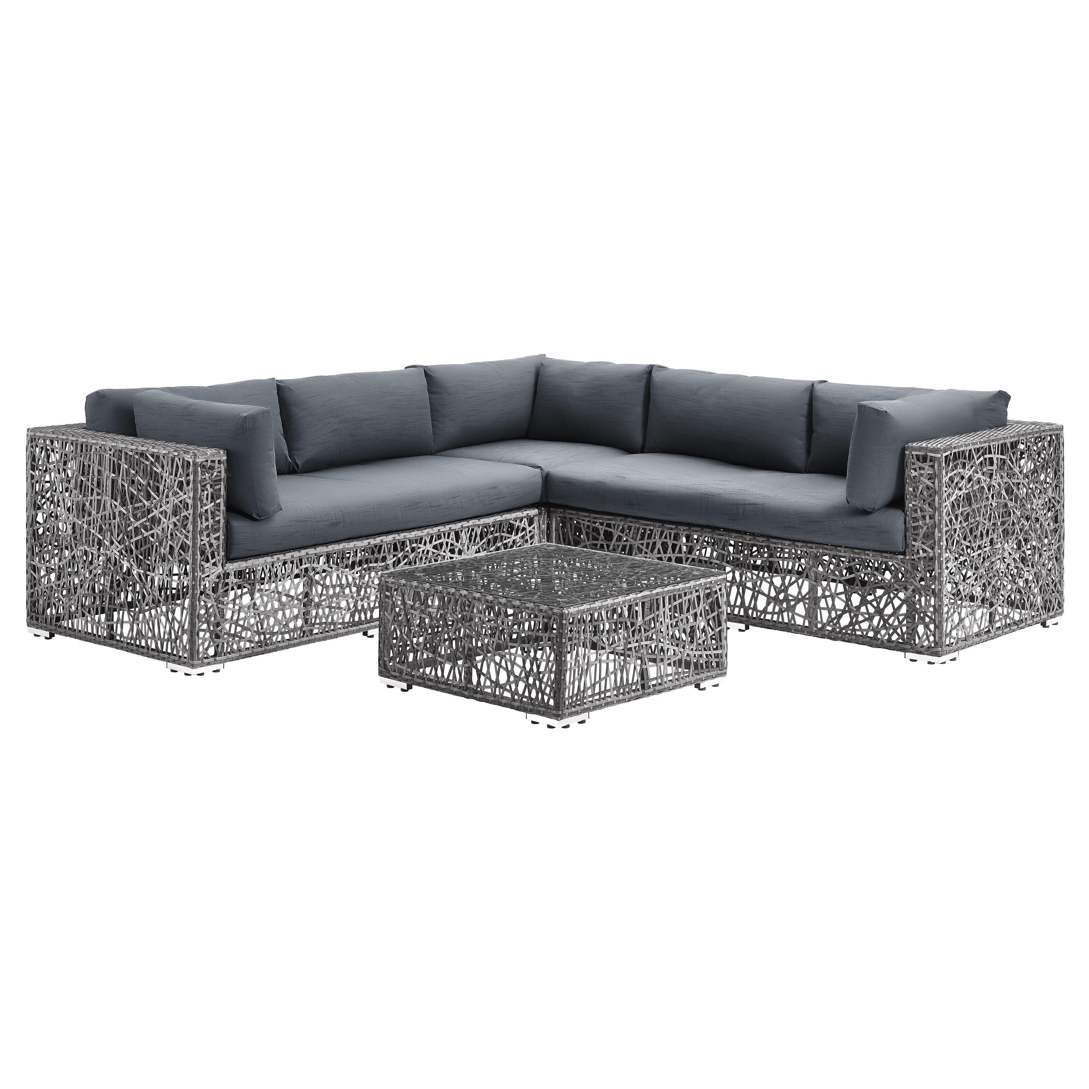 Modern Patio Set Grey By Walker Edison