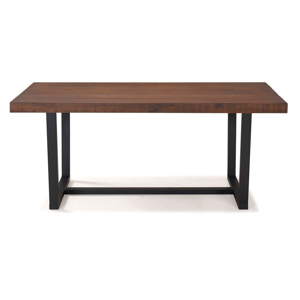 72 Inch Rustic Solid Wood Dining Table, 72 Inch Round Dining Table Reclaimed Wood