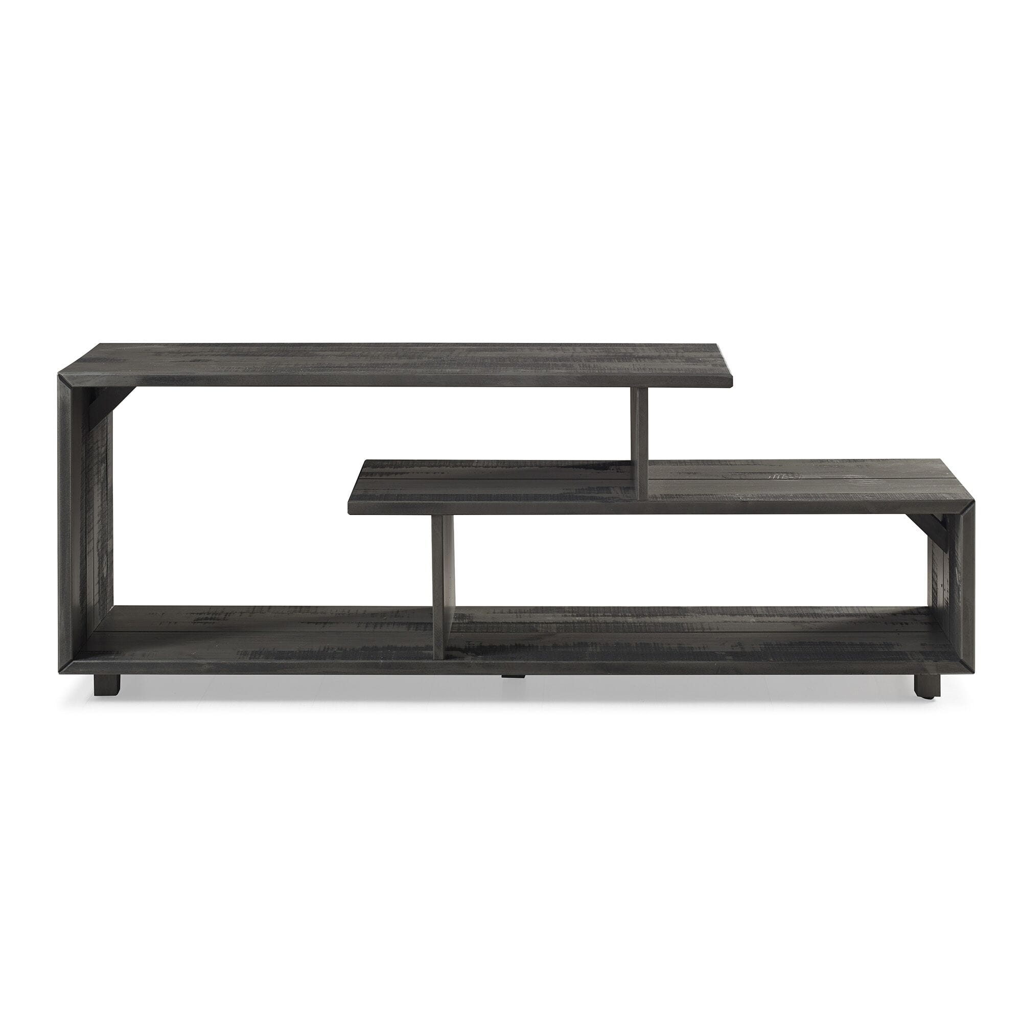 60 Inch Rustic Modern Solid Wood Tv Stand Grey By Walker Edison