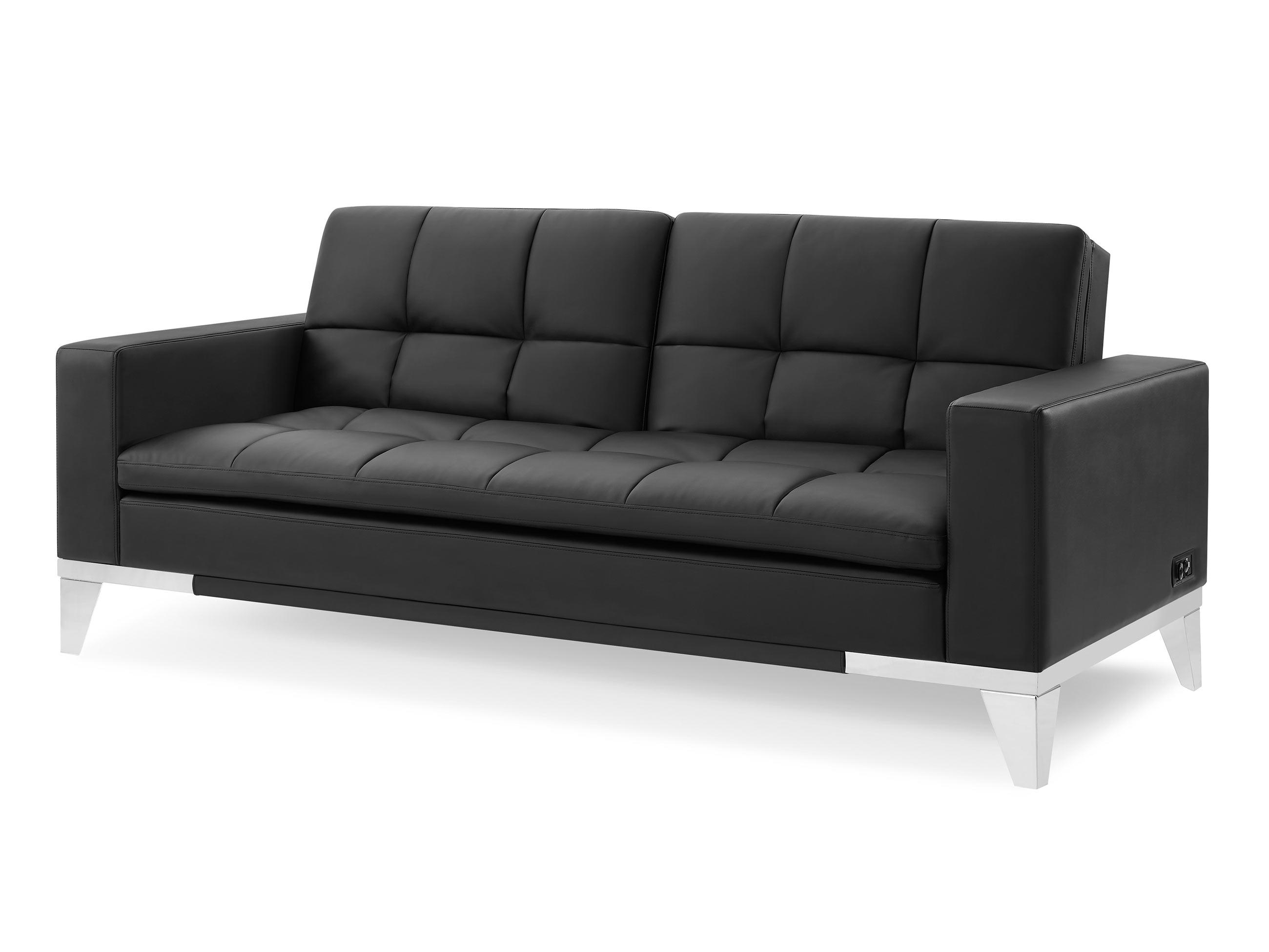 Westridge Convertible Sofa Black by Serta / Lifestyle