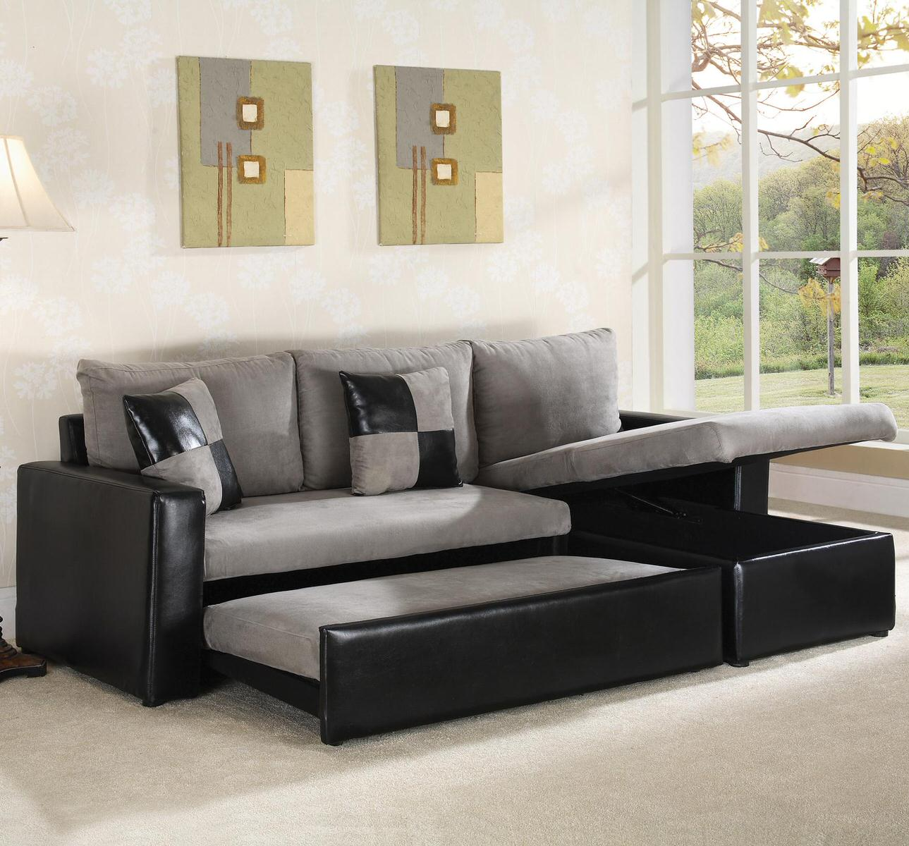 64008 Sectional Sofa Sleeper by World Imports
