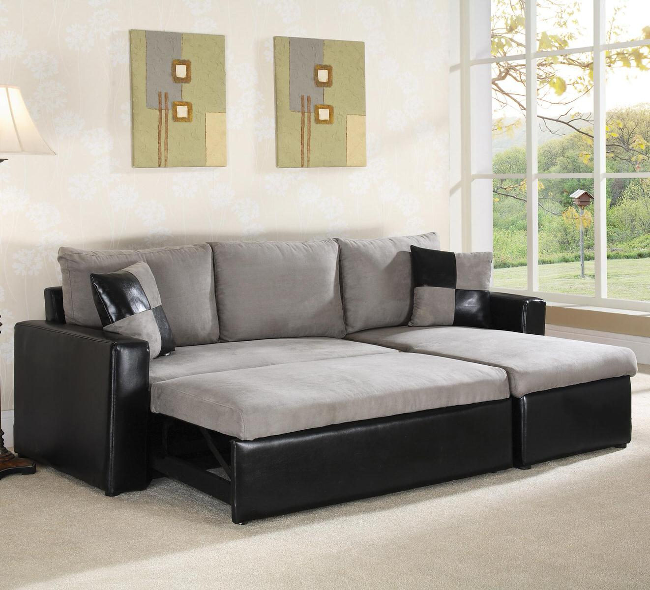64008 sectional sofa sleeper by world imports for Sleeper sectional