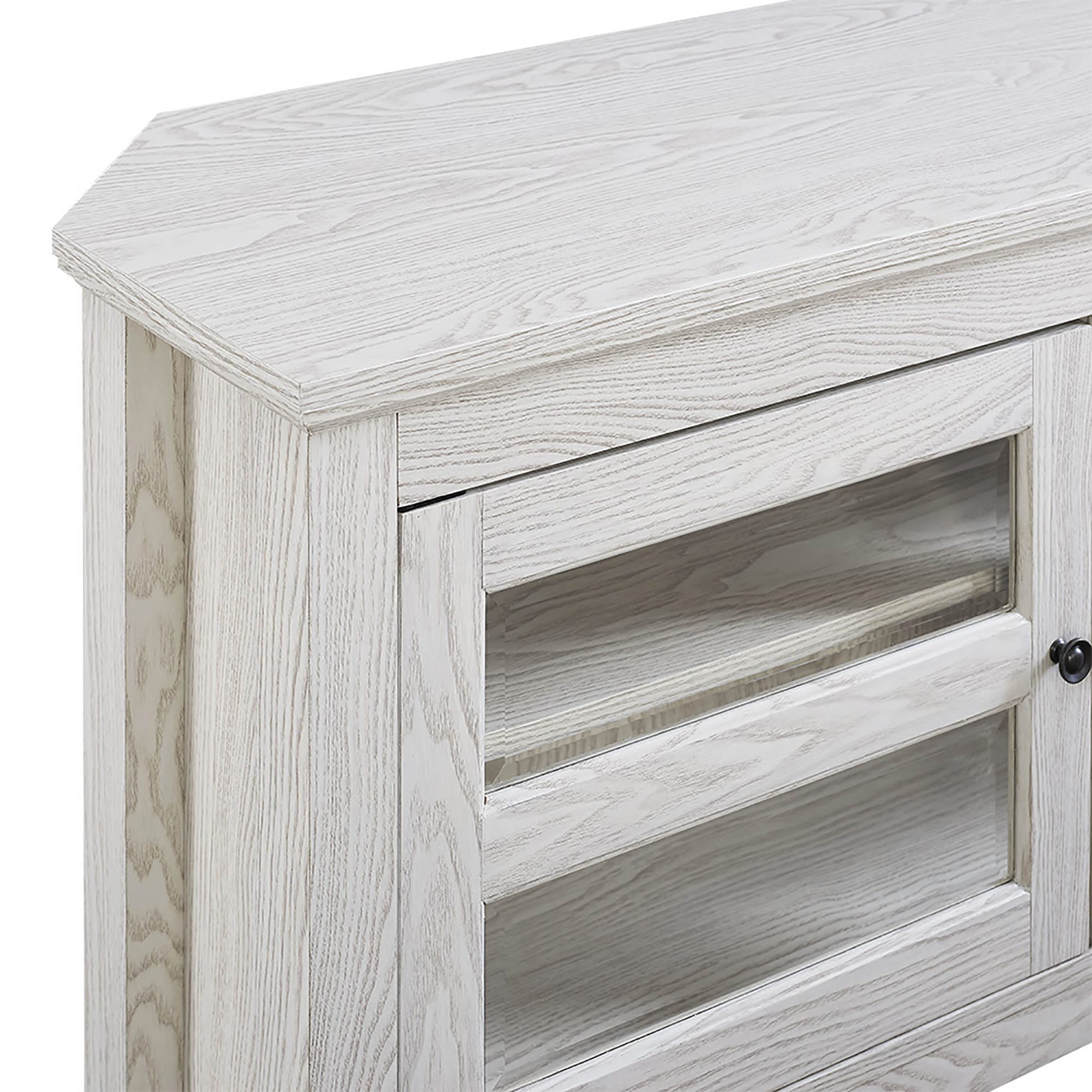 44 Inch White Wash Wood Tv Stand By Walker Edison
