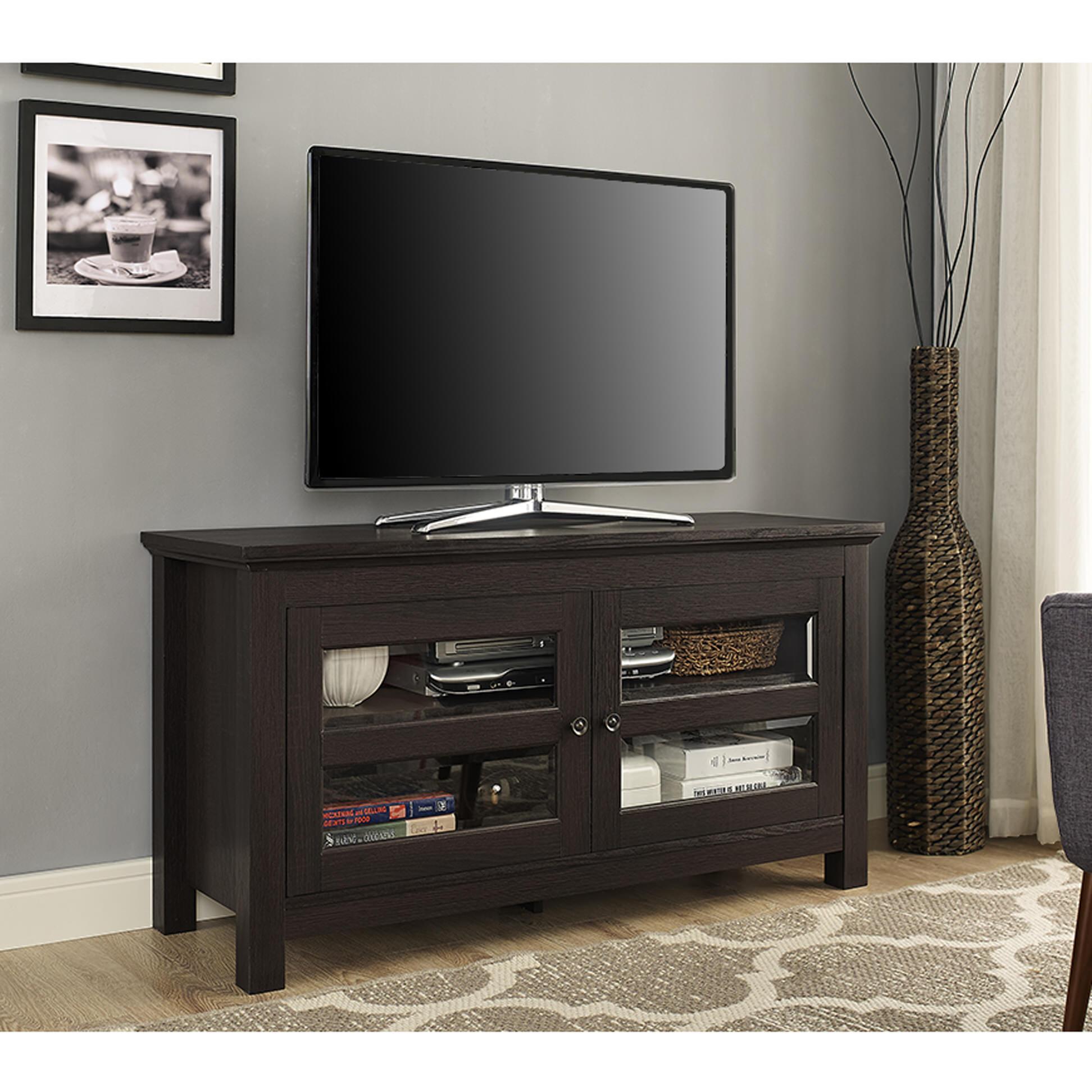 Inch wood tv console espresso by walker edison