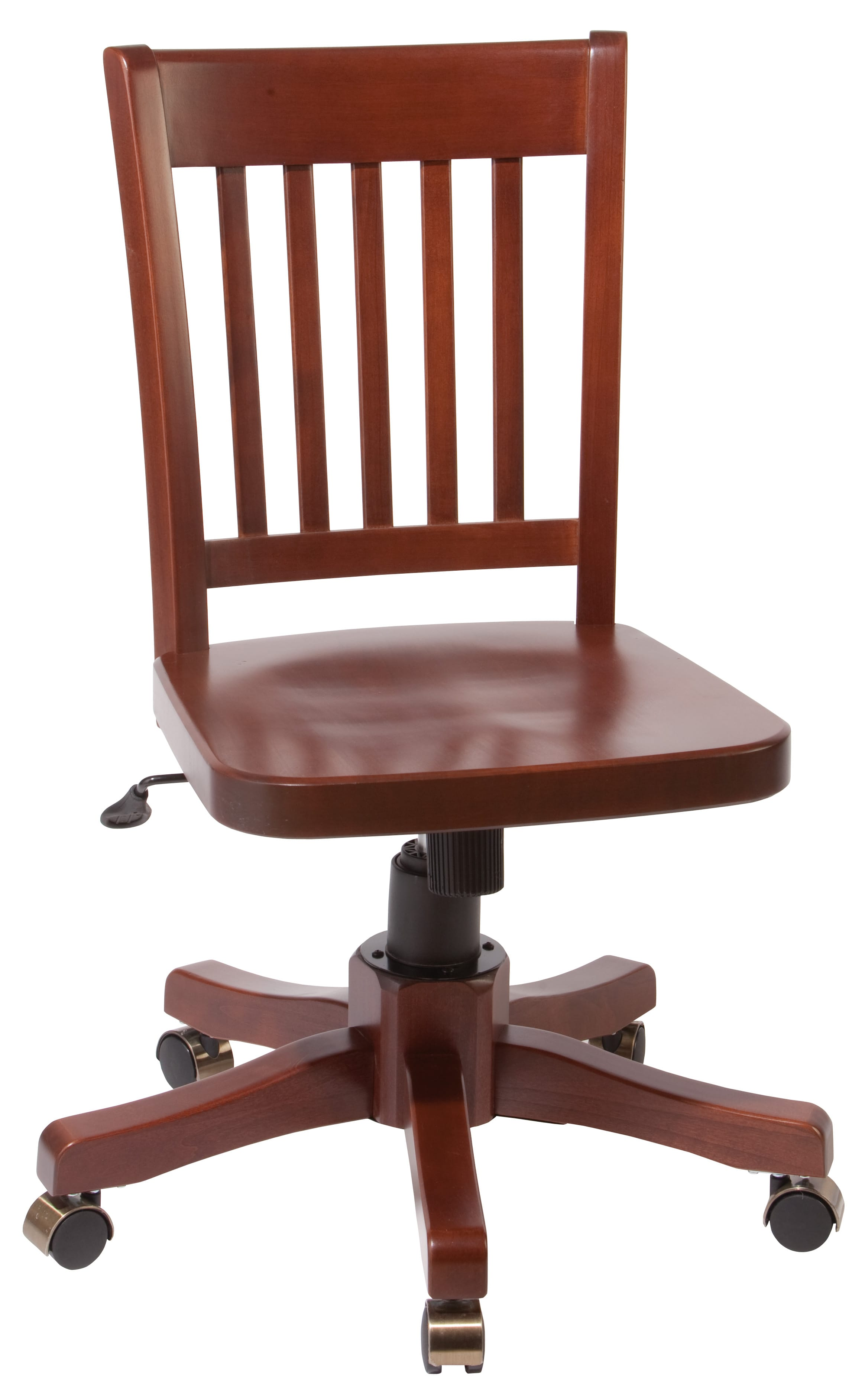 Hawthorne Office Chair Kd Finished Glazed Antique Cherry By Wittier Wood Furniture