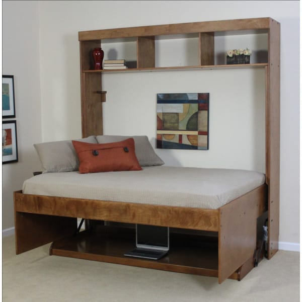 Avalon Birch Hidden Bed W/Built-in Hutch By Wallbeds