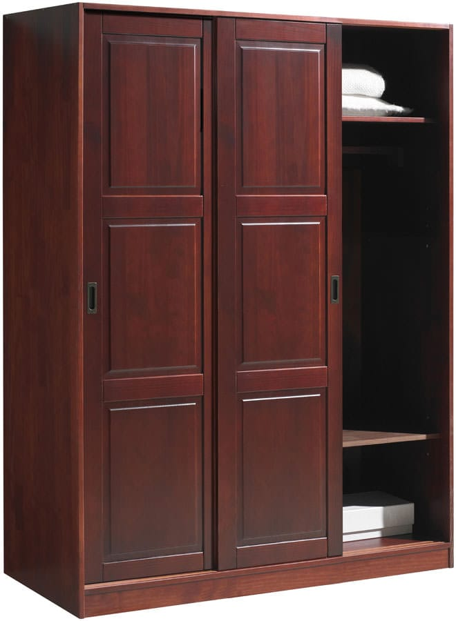 Wardrobe 3 Sliding Doors Mahogany By Palace Imports