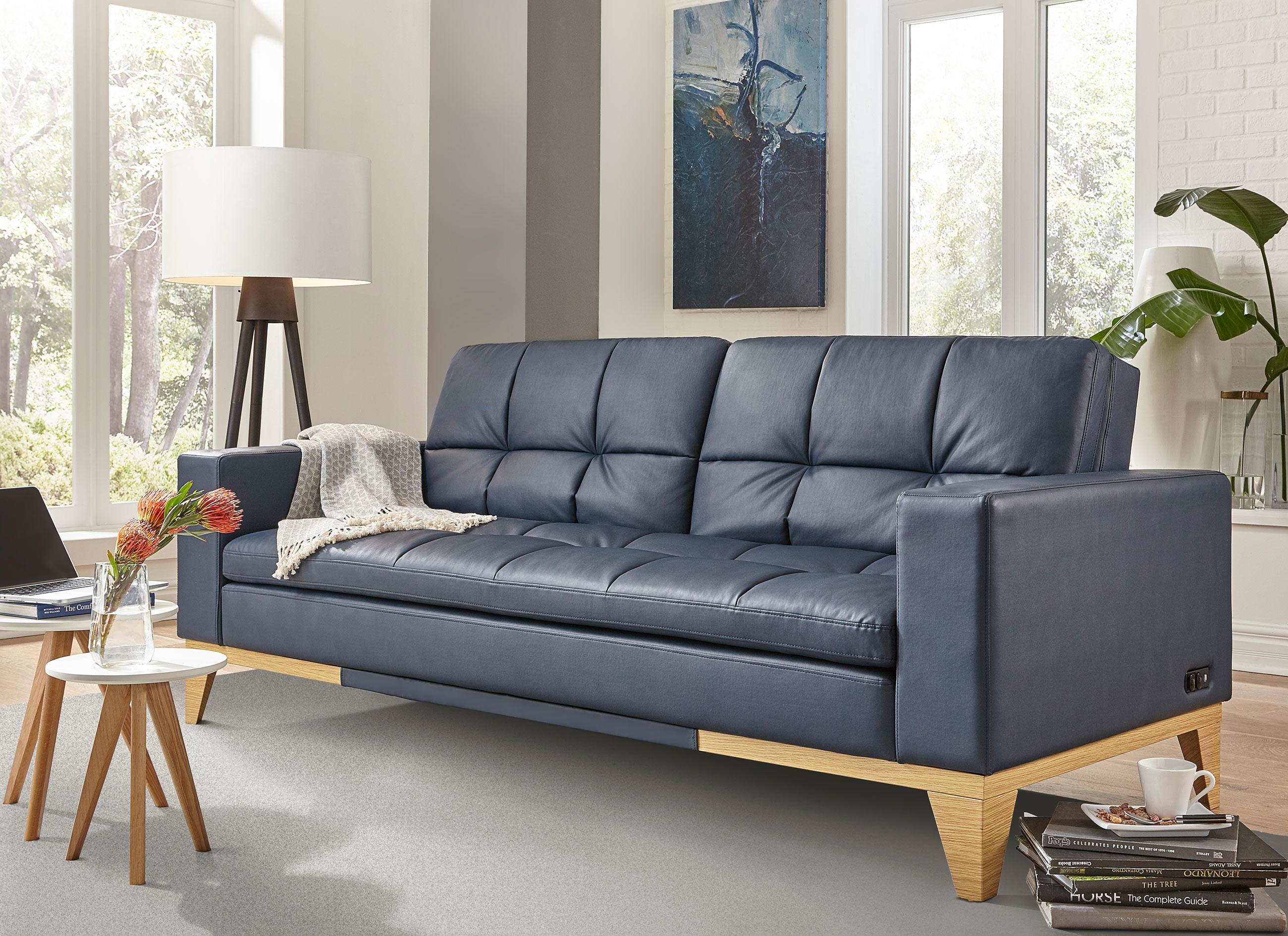 Westridge Convertible Sofa Navy by Serta Lifestyle