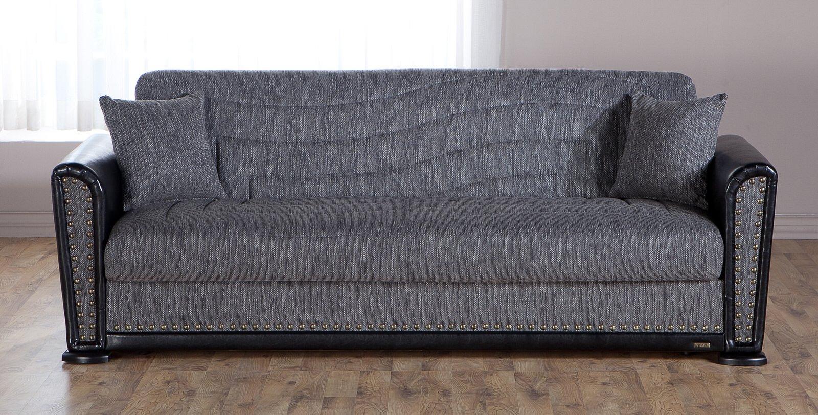 Alfa Go Gray Convertible Sofa Bed