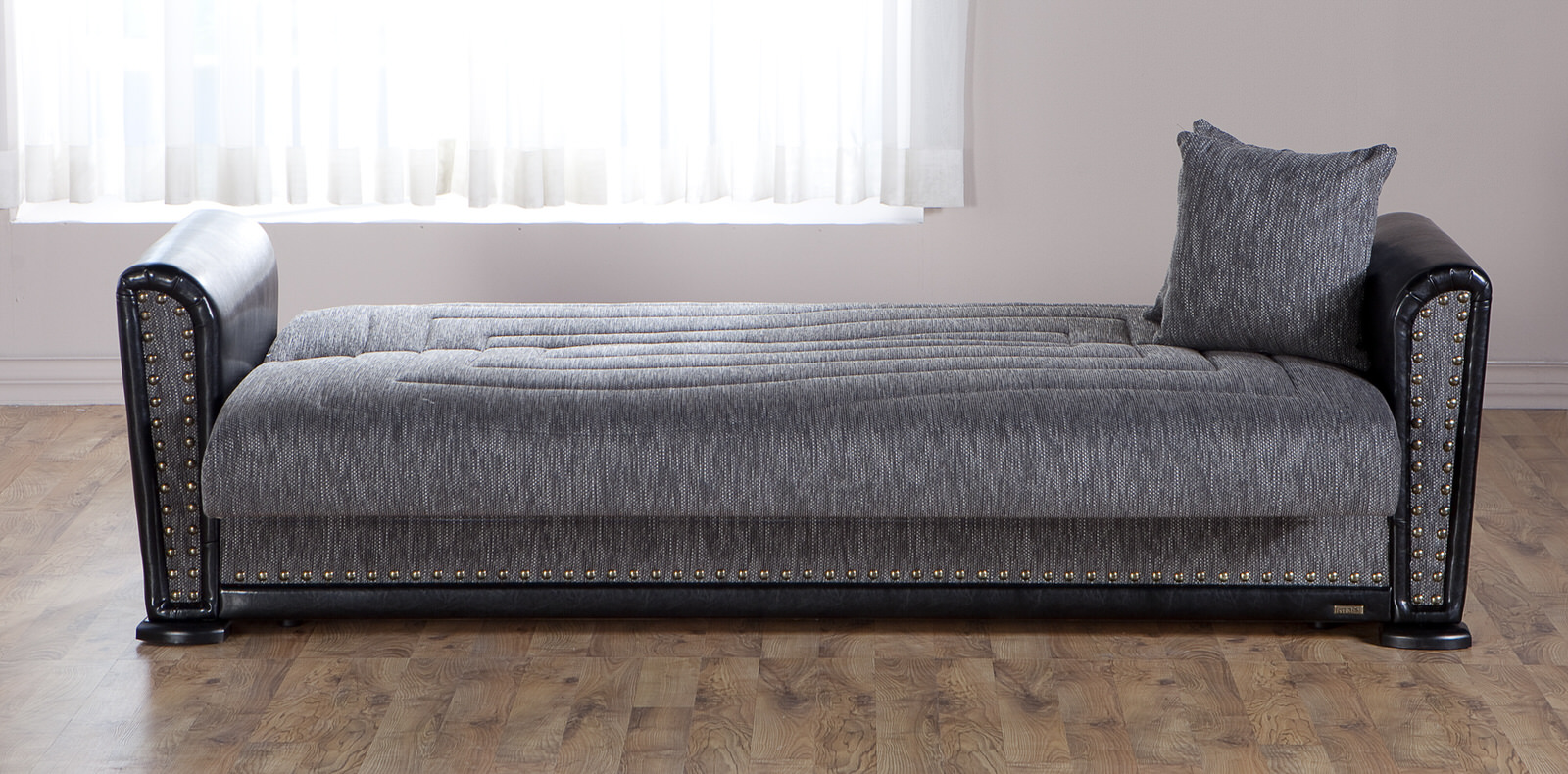 Alfa diego gray convertible sofa bed by sunset for Sofa convertible 2 places
