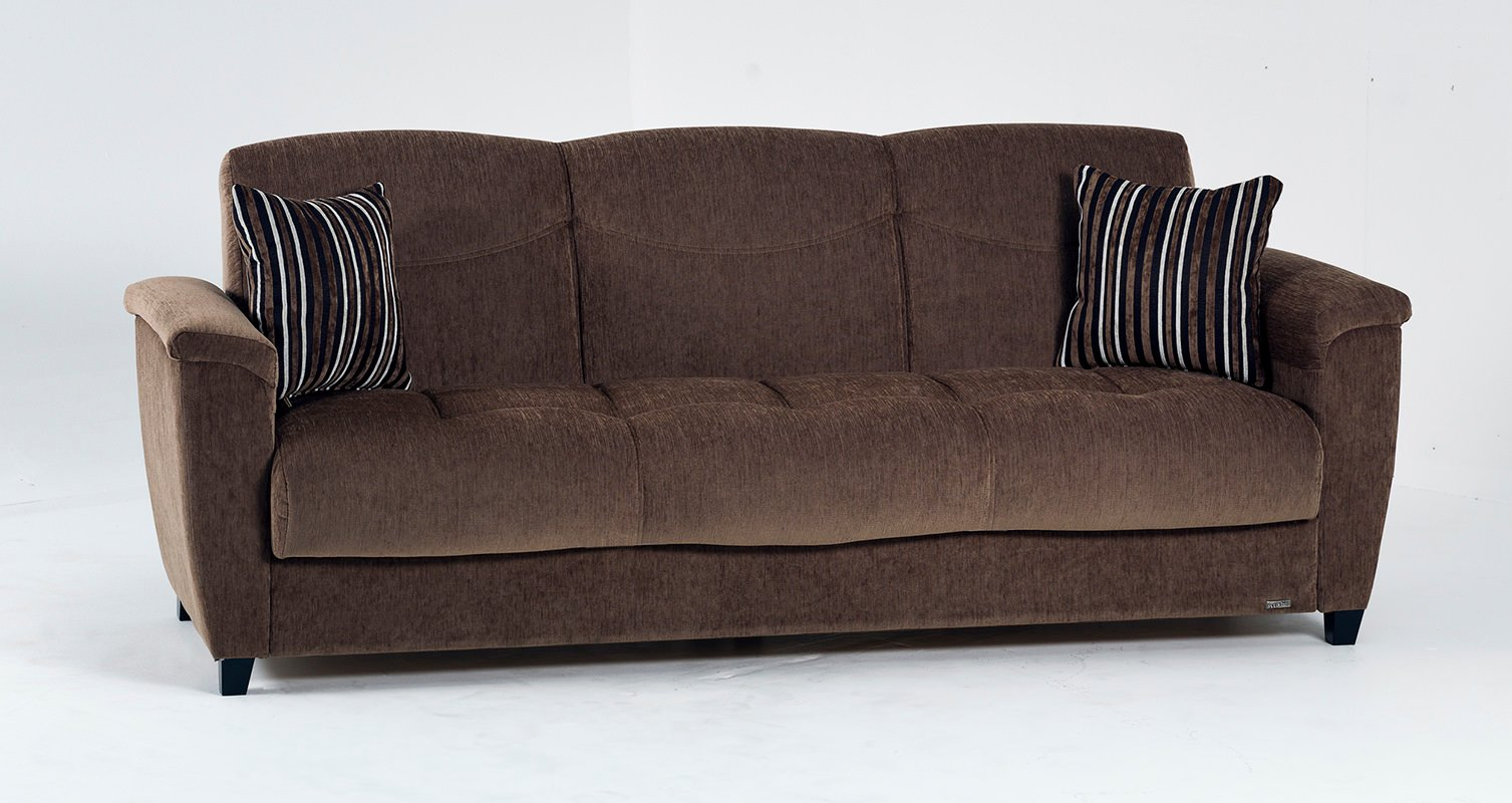 Aspen yuky brown convertible sofa bed by sunset for Sofa bed 4 in 1