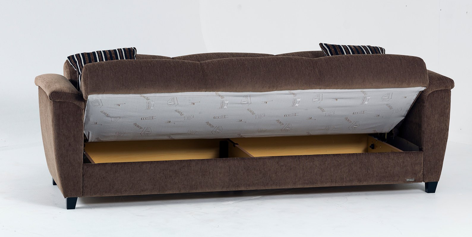 Aspen yuky brown convertible sofa bed by sunset for Sofa bed 5 in 1