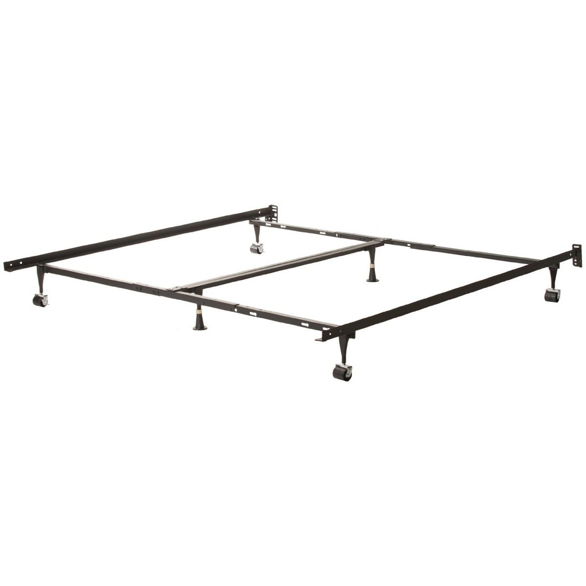 universal adjustable metal bed frame queen king