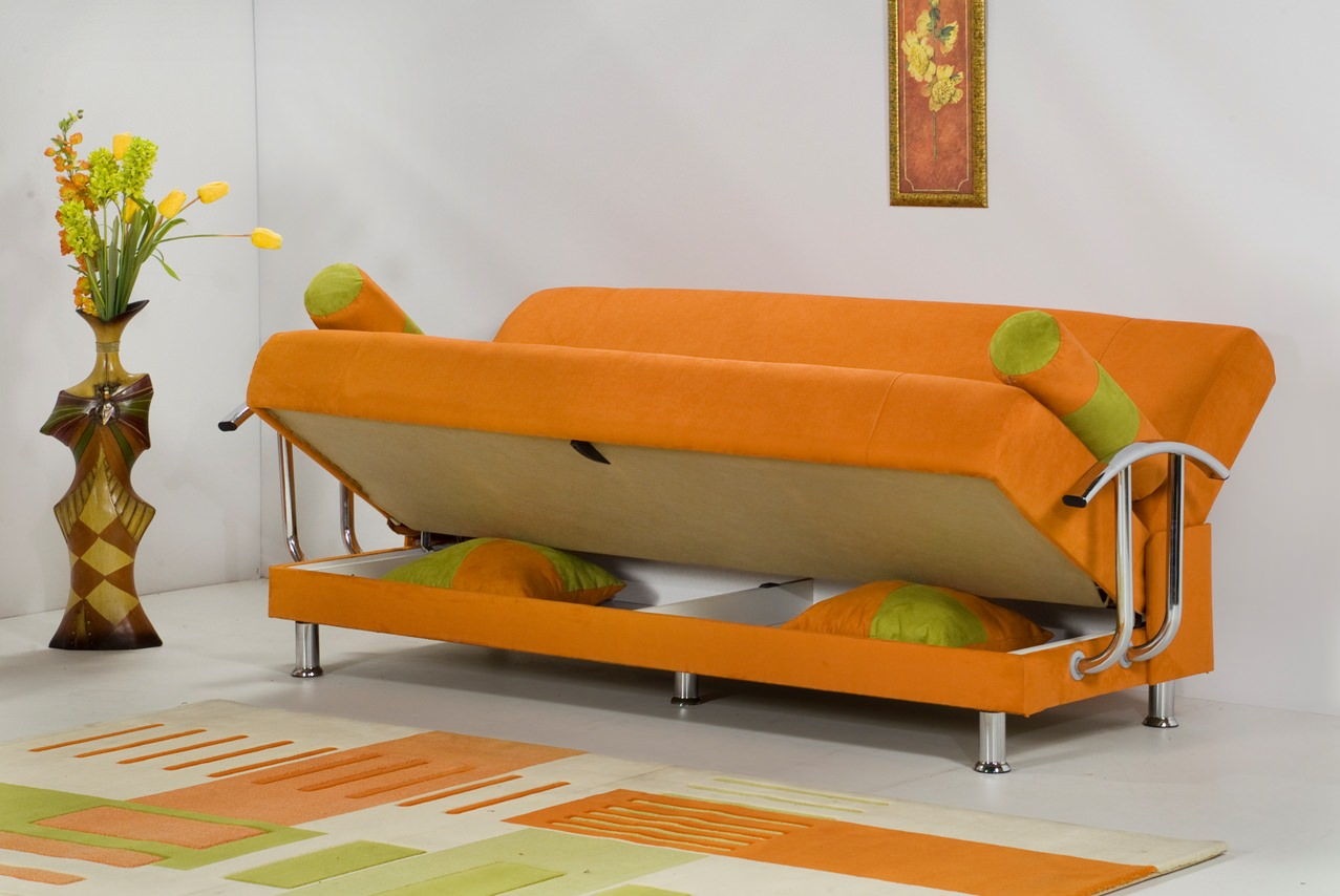 Brenda Orange Sofa Bed By Kilim