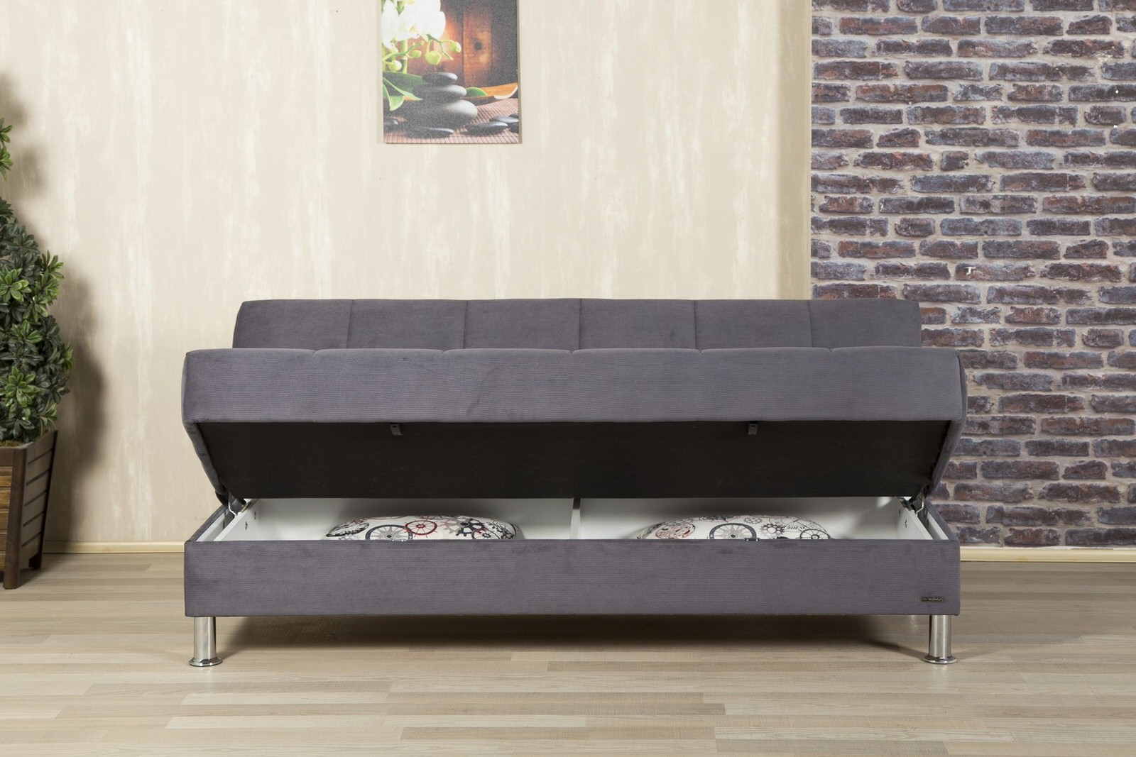 Eco plus gray convertible sofa bed by casamode for Sofa bed 549 artek