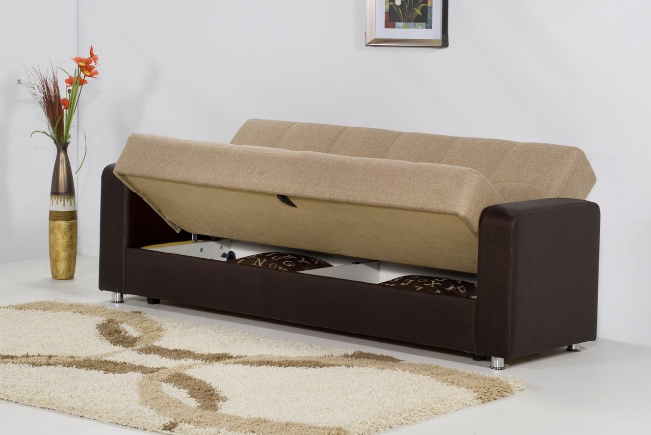 Carol beige sofa bed by kilim for Beige divan bed