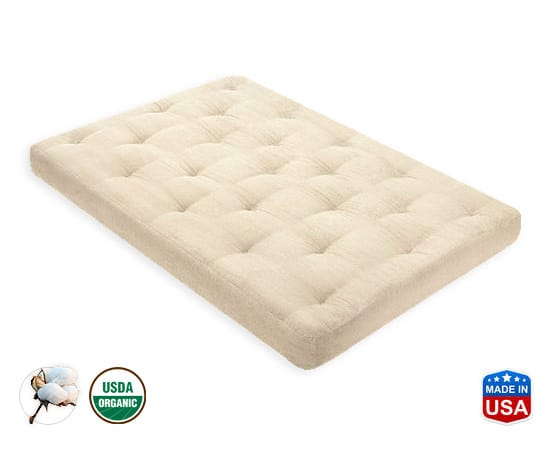 4 Inch Organic Cotton Mattress by fort Pure