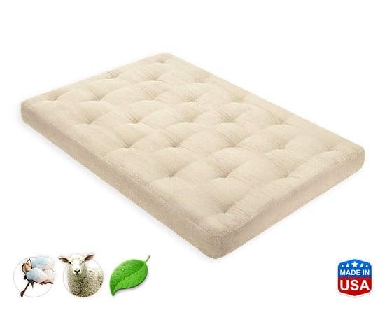 8 Inch Organic Cotton/Pure Wool Mattress by Comfort Pure