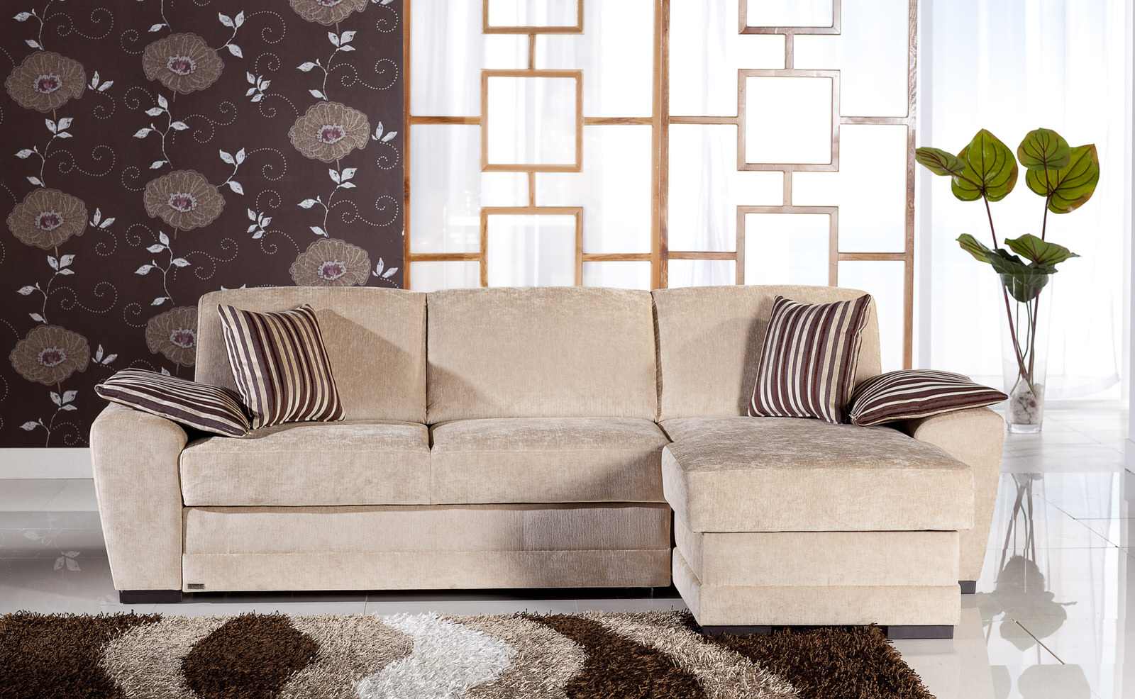 Awesome Cross Yuky Cream Sectional Sofa By Istikbal Furniture Short Links Chair Design For Home Short Linksinfo
