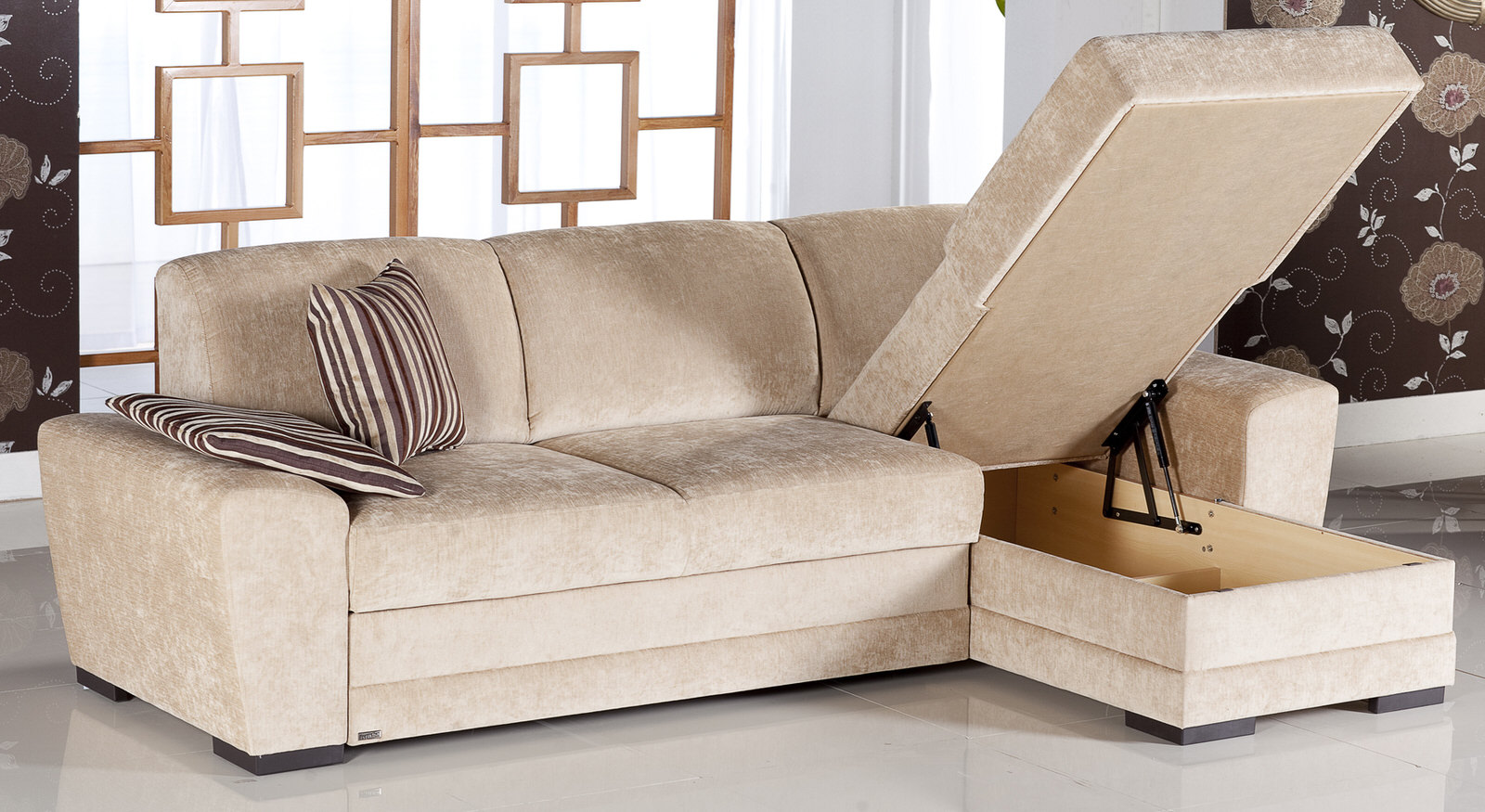 cross yuky cream sectional sofa by sunset. Black Bedroom Furniture Sets. Home Design Ideas