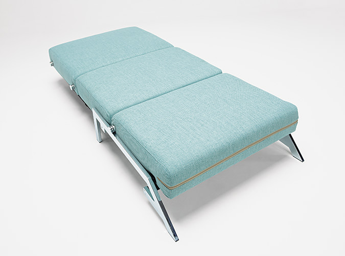 Cubed Sleek Sofa Bed Turkish Blue by Innovation