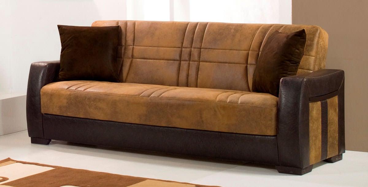 Deborah Ares Suede Rusty Micro Suede Sofa Bed By Kilim