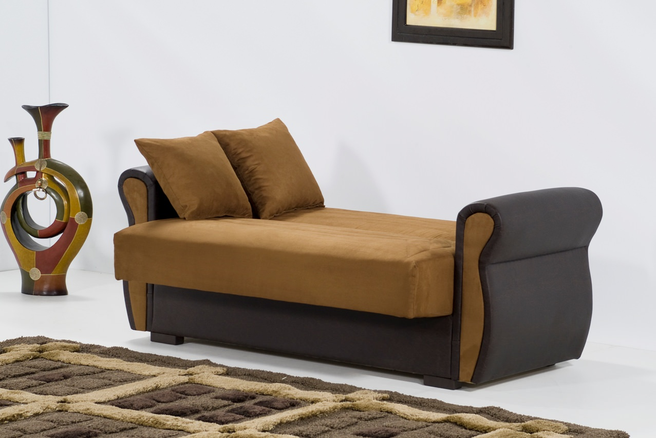 Deluxe microfiber brown loveseat by kilim Brown microfiber couch and loveseat